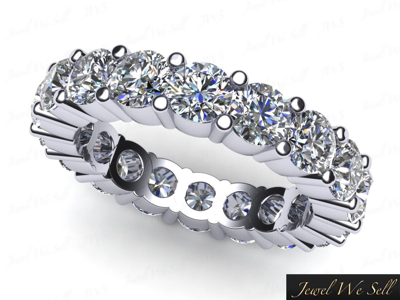Genuine 1.75Ct Round Diamond Shared Prong Wedding Eternity Ring 10k gold GH I1