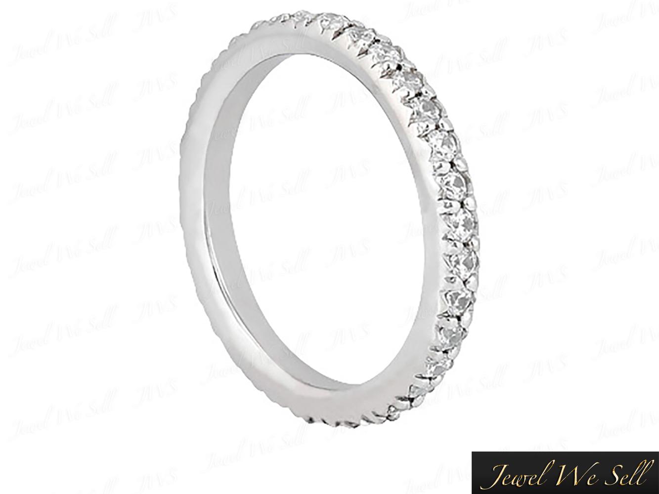 0-70Ct-Round-Cut-Diamond-Pave-Set-Anniversary-Eternity-Band-Ring-10K-Gold-G-H-I1 thumbnail 4