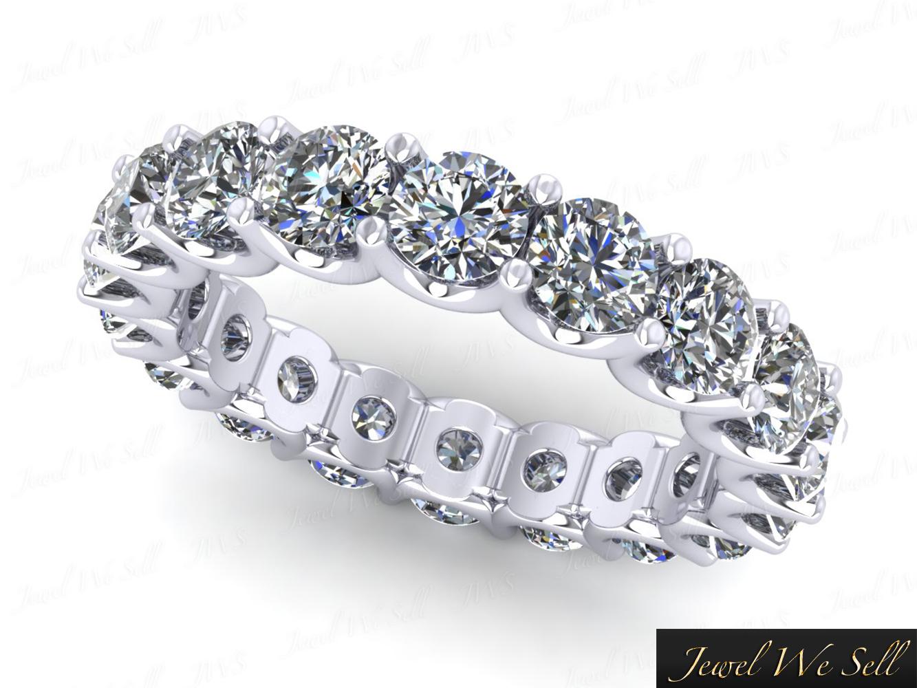 2 25ct Round Diamond Shared U G Eternity