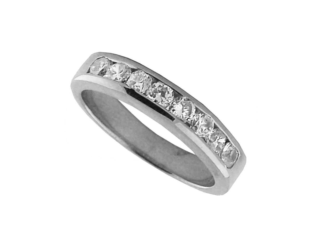 Image Is Loading 0 60ct Diamond Wedding Band Ring 14k White
