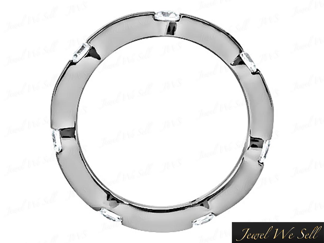 .50Ct Round Brilliant Cut Diamond Eternity Band Wedding Ring 10K Gold G-H I1