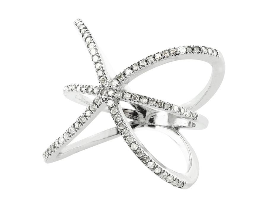 Natural 06Ct Round Diamond Right Hand Ring Wedding Band Ring 14K Gold