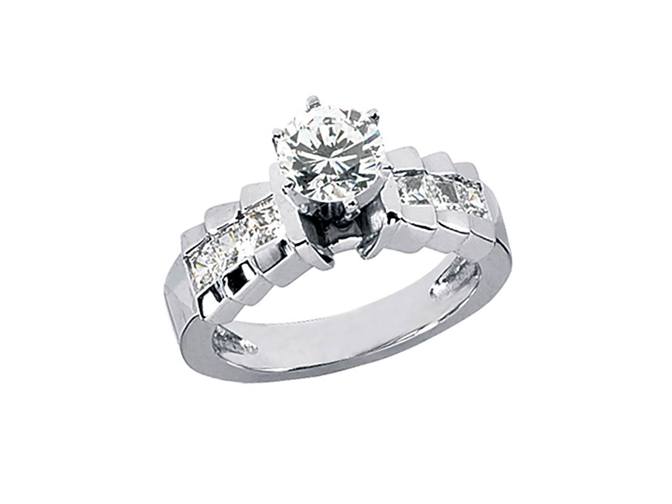 96320377bc09d Genuine 1.50Ct Round Princess Cut Diamond Engagement Ring Solid 14k ...