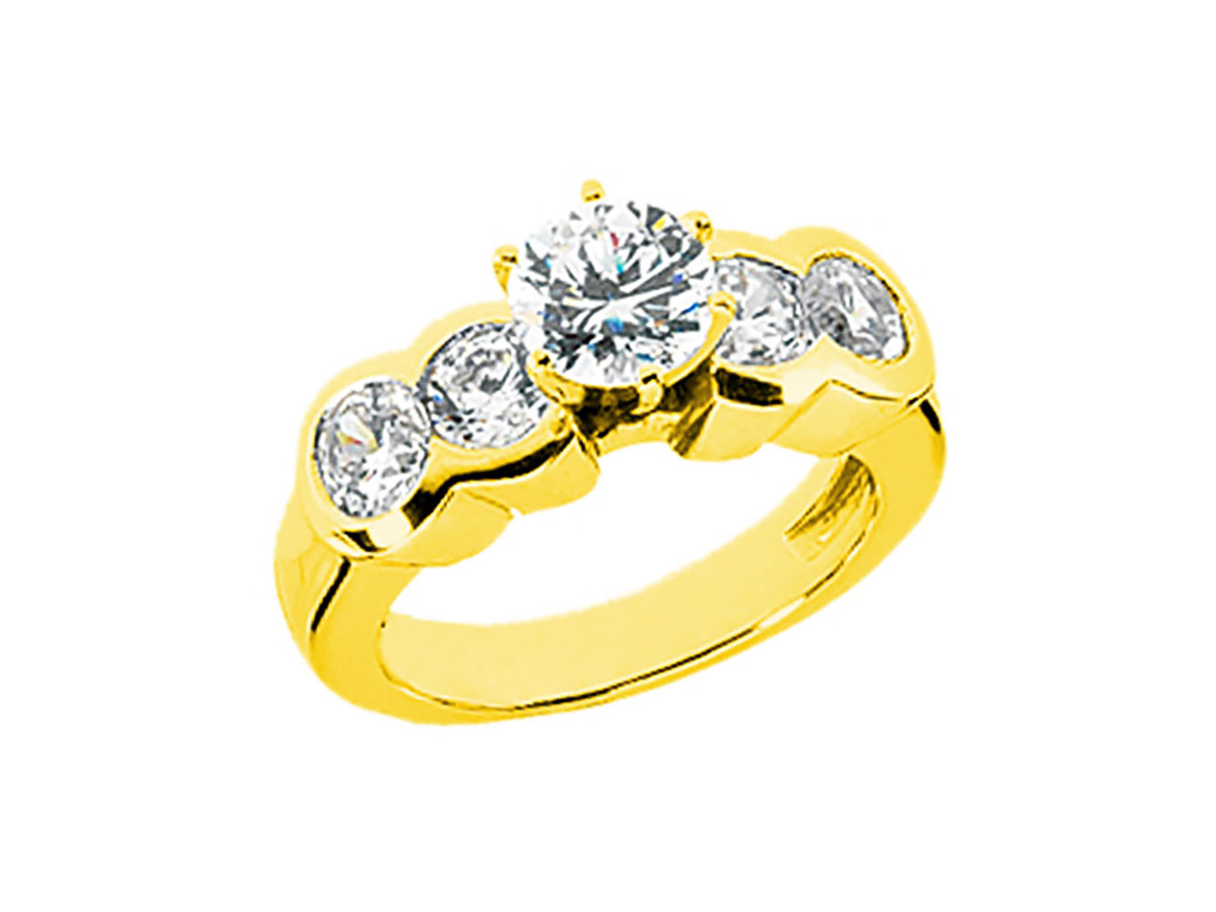 69e086e2f86ed Details about 2.00Ct Round Brilliant Diamond Engagement Ring Bezel Set  Accents 18k Gold