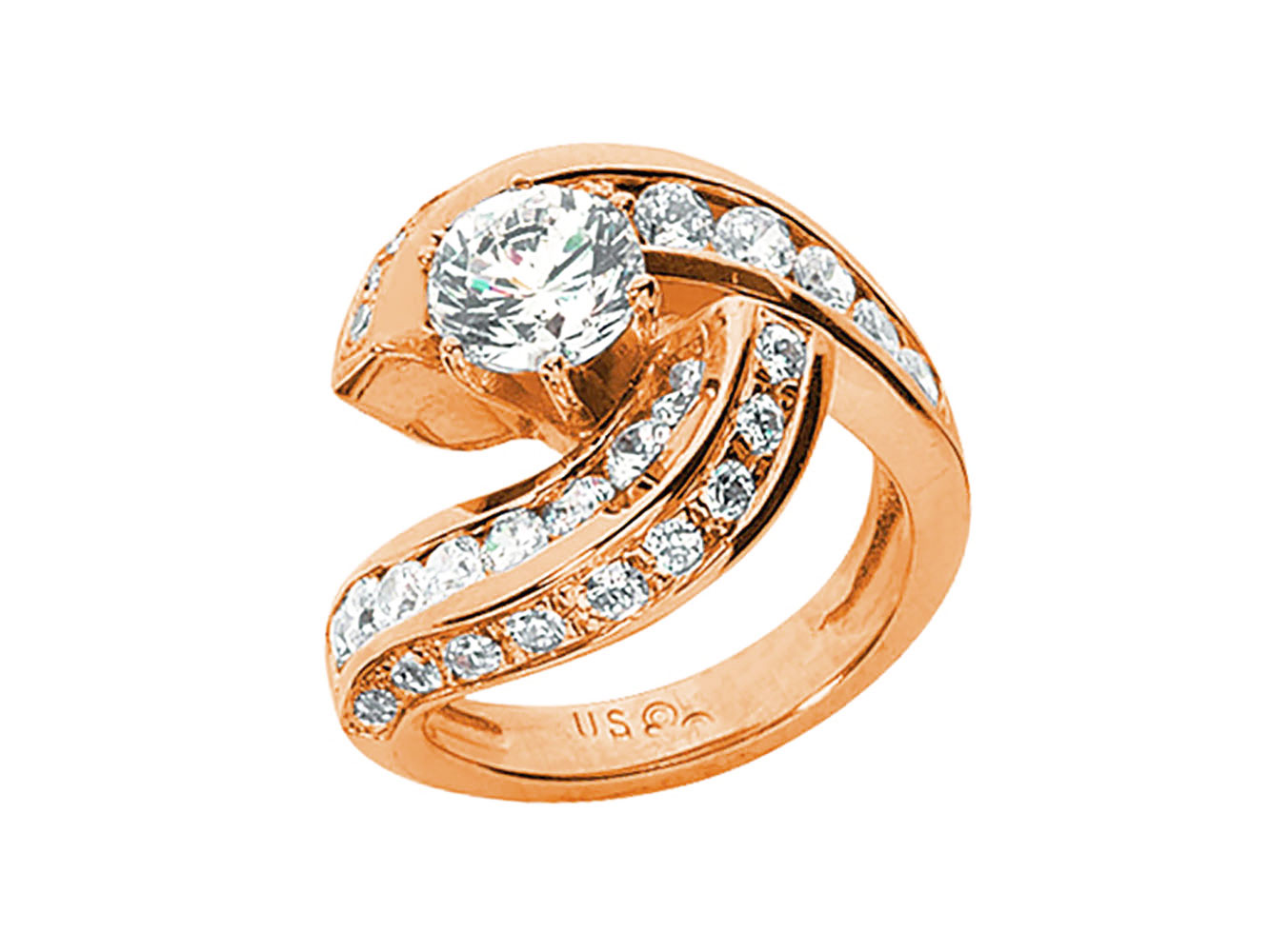 natural round cut diamond swirl engagement ring. Black Bedroom Furniture Sets. Home Design Ideas