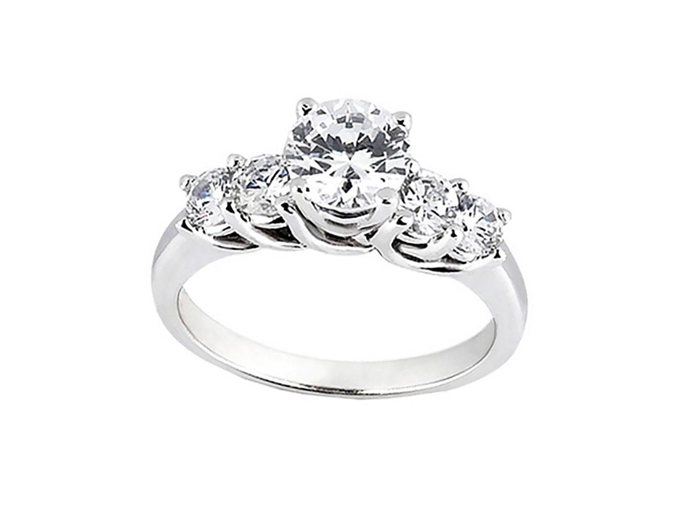 natural 1ct round cut diamond trellis bridal engagement. Black Bedroom Furniture Sets. Home Design Ideas