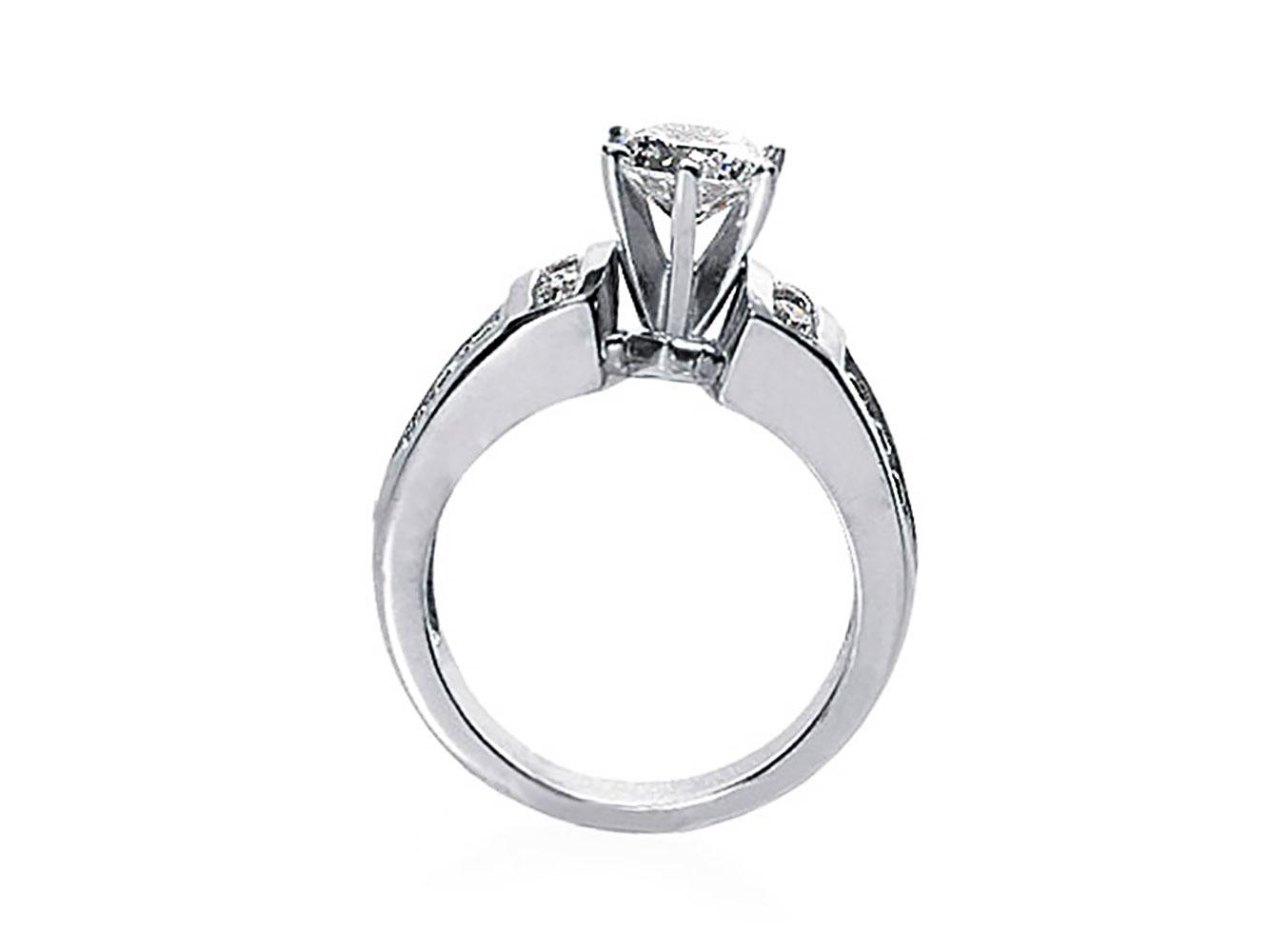 natural round diamond engagement ring solid 14k. Black Bedroom Furniture Sets. Home Design Ideas
