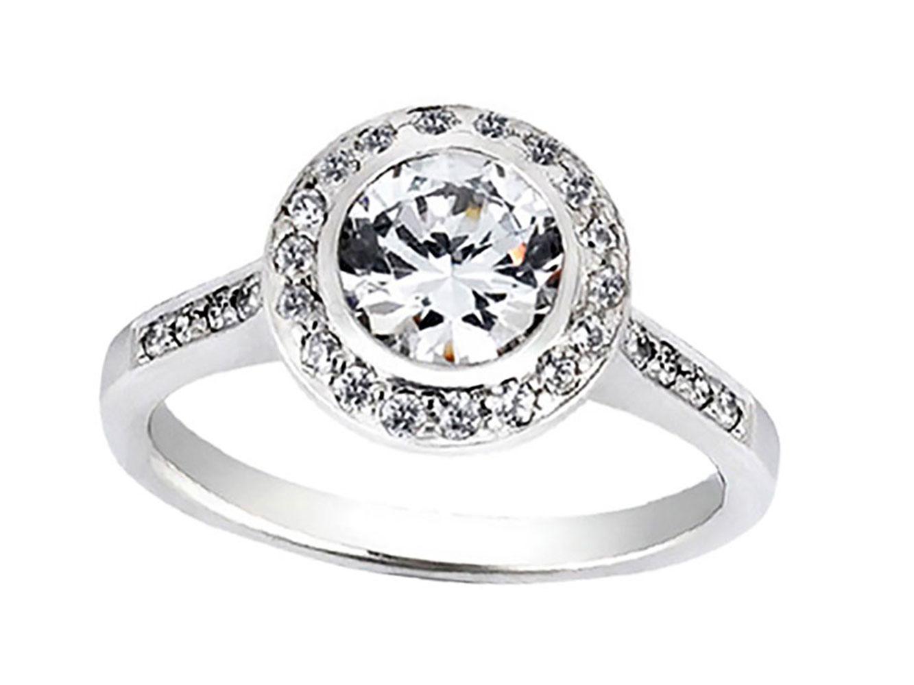 natural round cut diamond halo bridal engagement. Black Bedroom Furniture Sets. Home Design Ideas