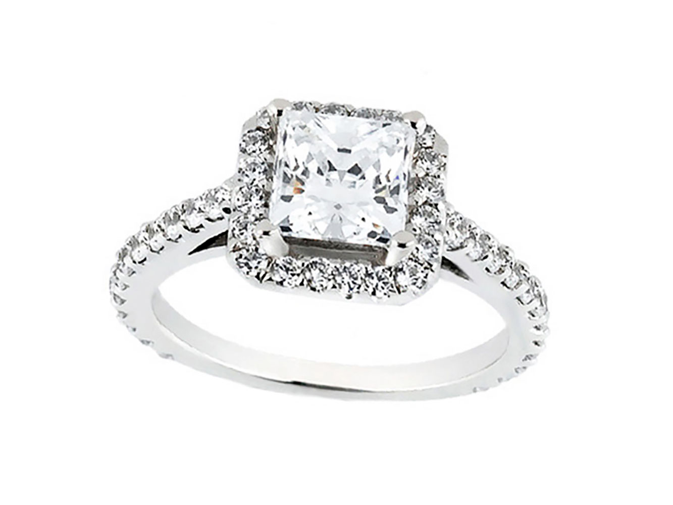 princess round cut diamond cathedral halo. Black Bedroom Furniture Sets. Home Design Ideas