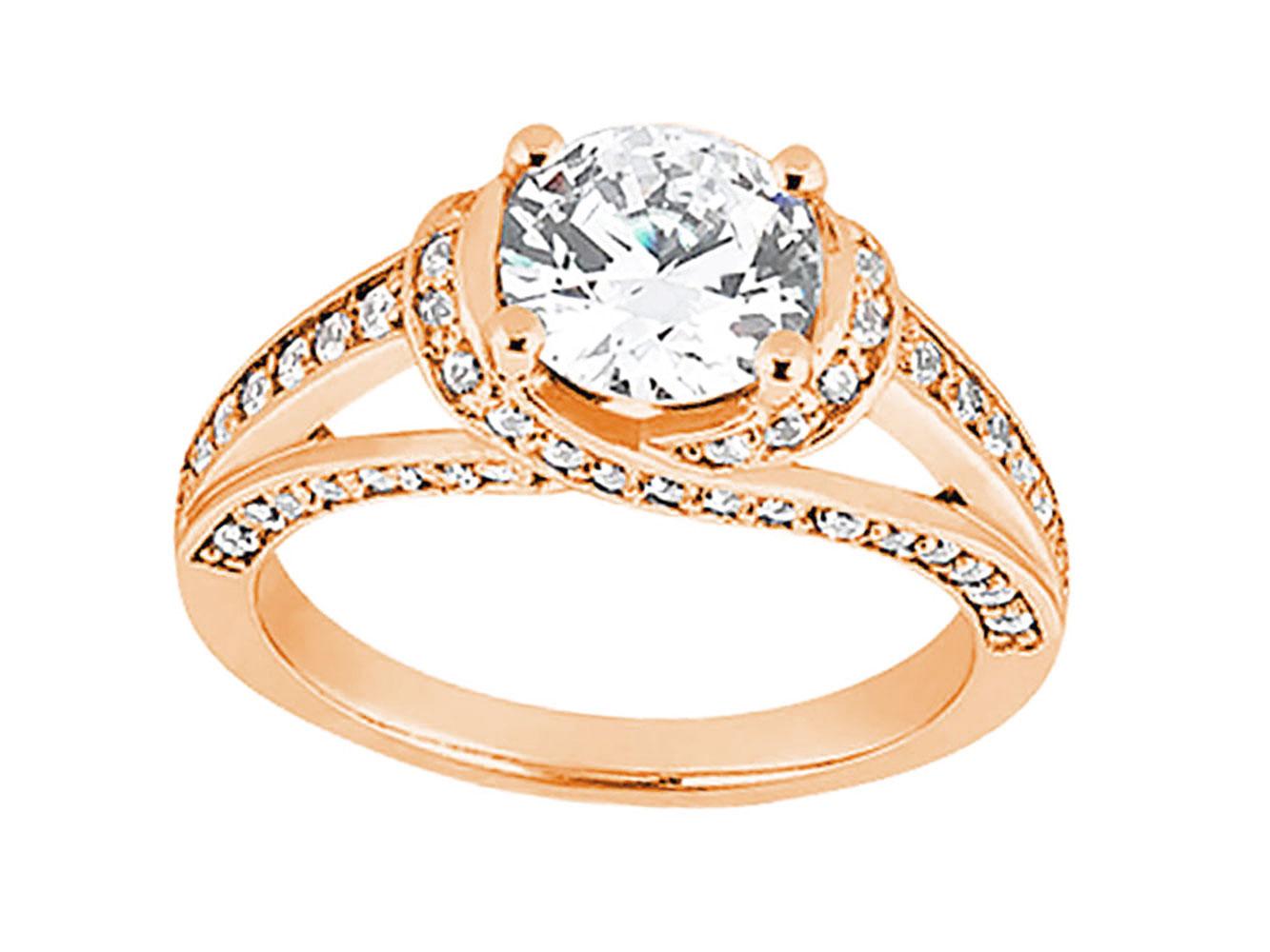 genuine round diamond engagement ring solid 14k rose white yellow gold ebay. Black Bedroom Furniture Sets. Home Design Ideas