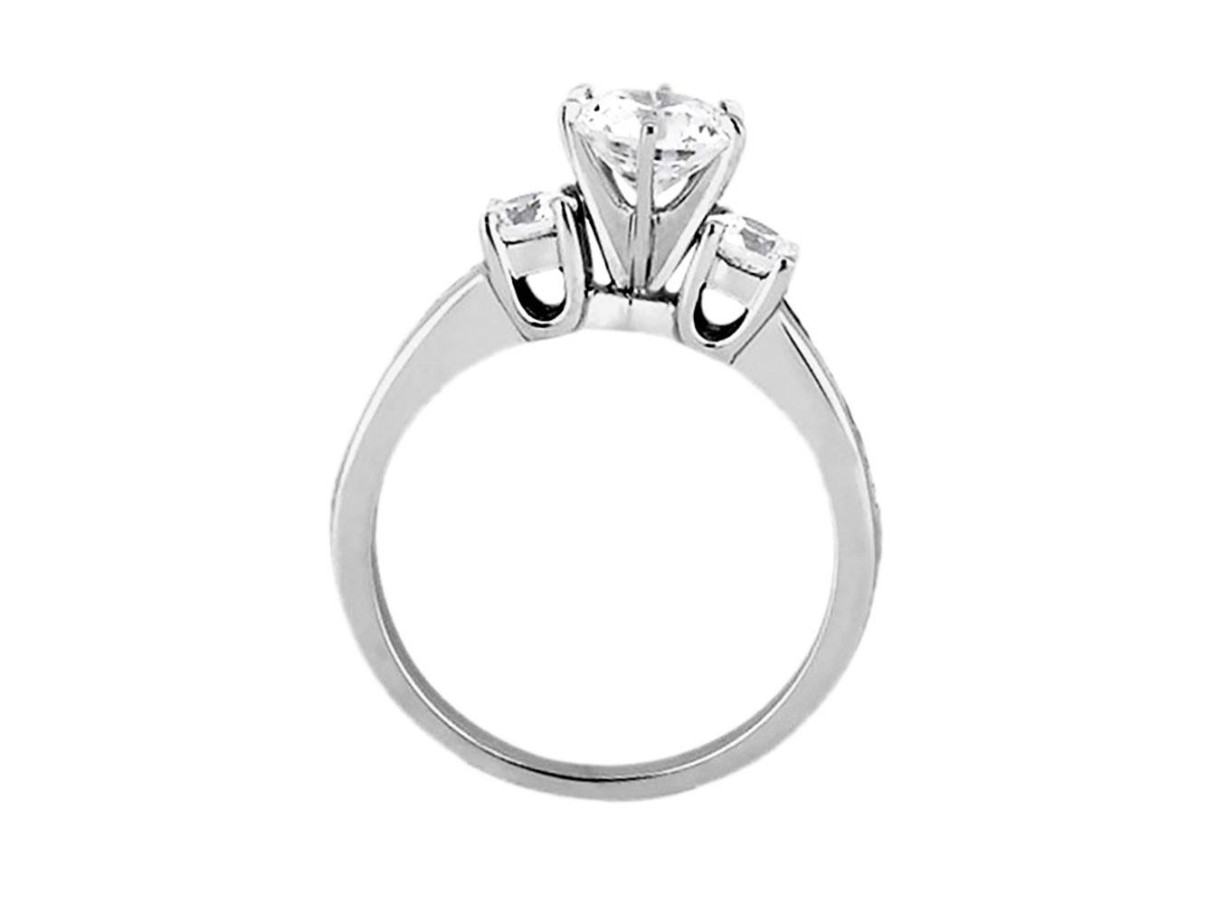 180e6b4e3768e Genuine 1.50Ct Round Princess Round Cut Diamond Engagement Ring 14k ...