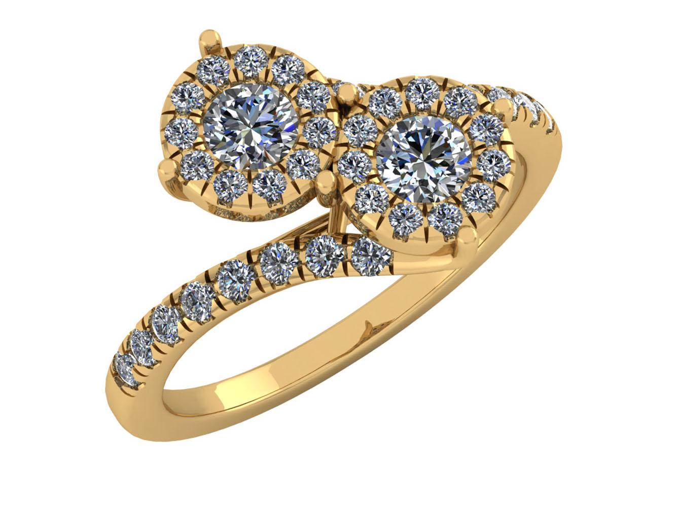 natural round diamond forever us bridal engagement. Black Bedroom Furniture Sets. Home Design Ideas