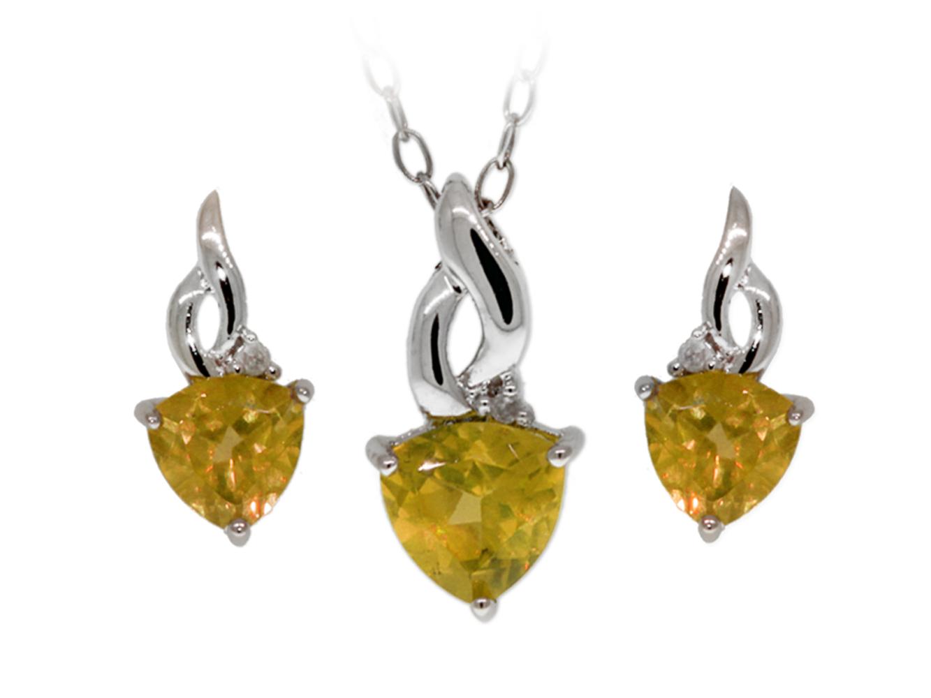 Trillion Cut Amethyst Citrine Garnet Peridot Topaz Diamond