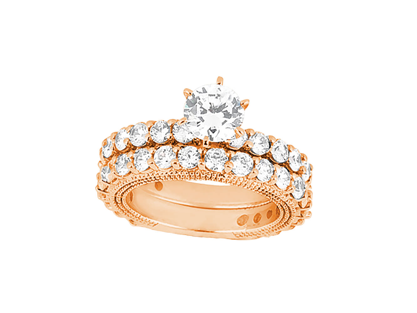 10k gold wedding ring sets 3 50ct cut bridal engagement ring wedding 1012