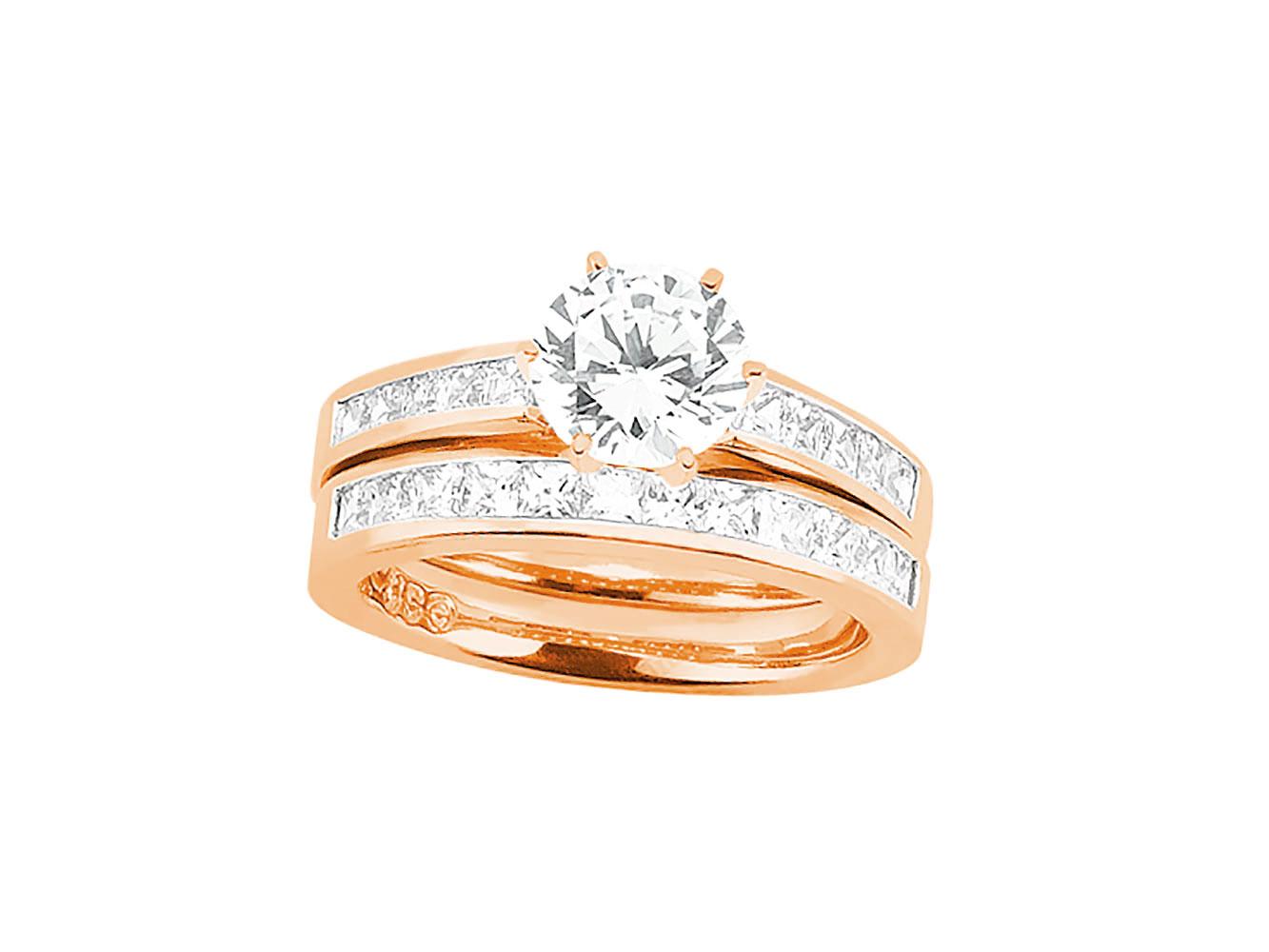 175ct round princess diamond engagement ring wedding band for Sell wedding ring set