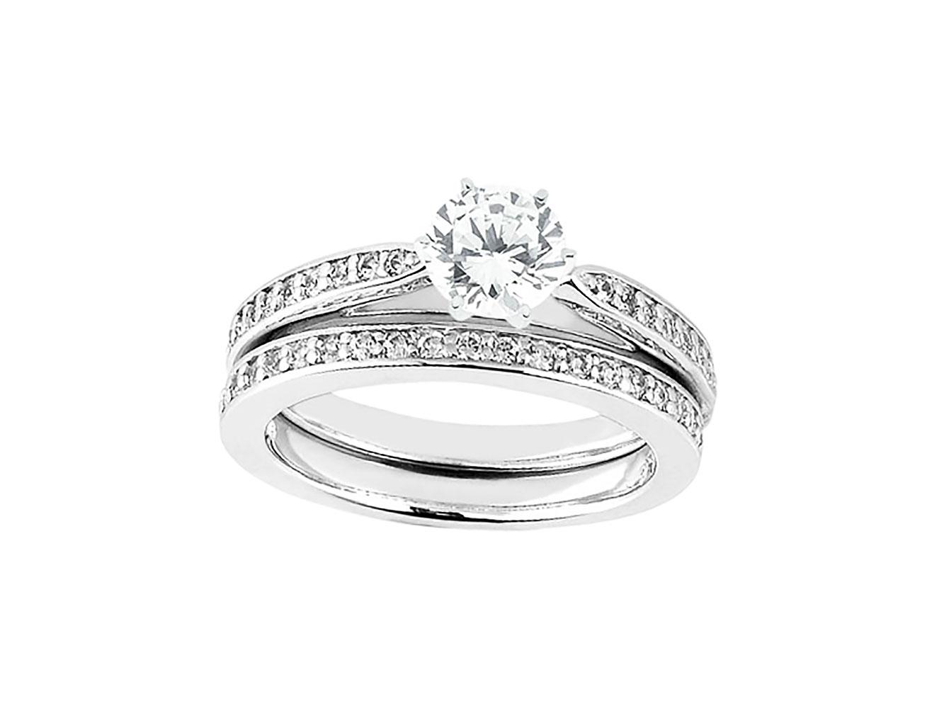 moda mejor valorada imágenes detalladas diseño encantador Detalles de Original 0,60 Ct Anillo de Compromiso Diamante Corte Princesa  Set Sólido