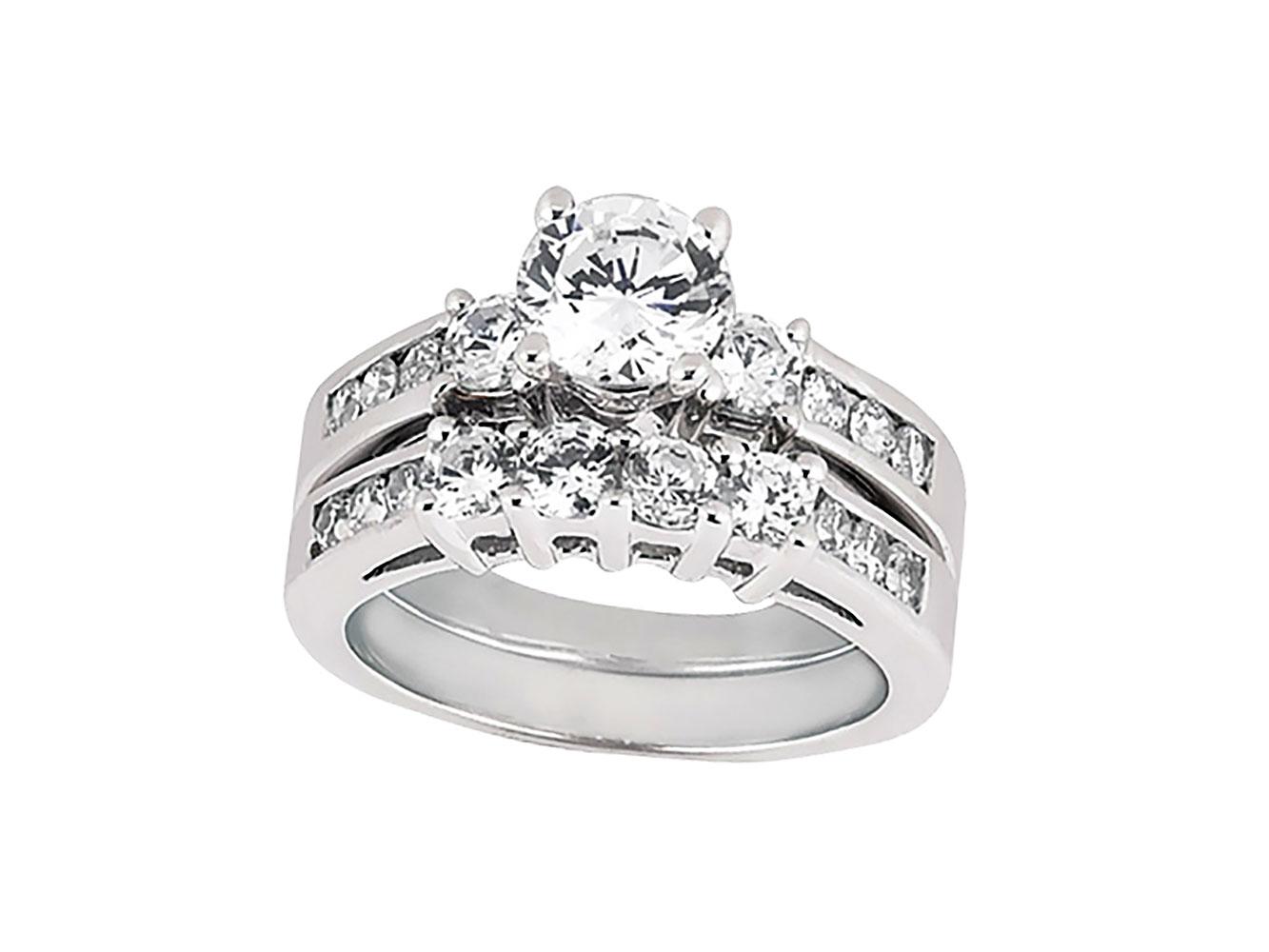 2Carat Round Cut Diamond Engagement Ring Wedding Band