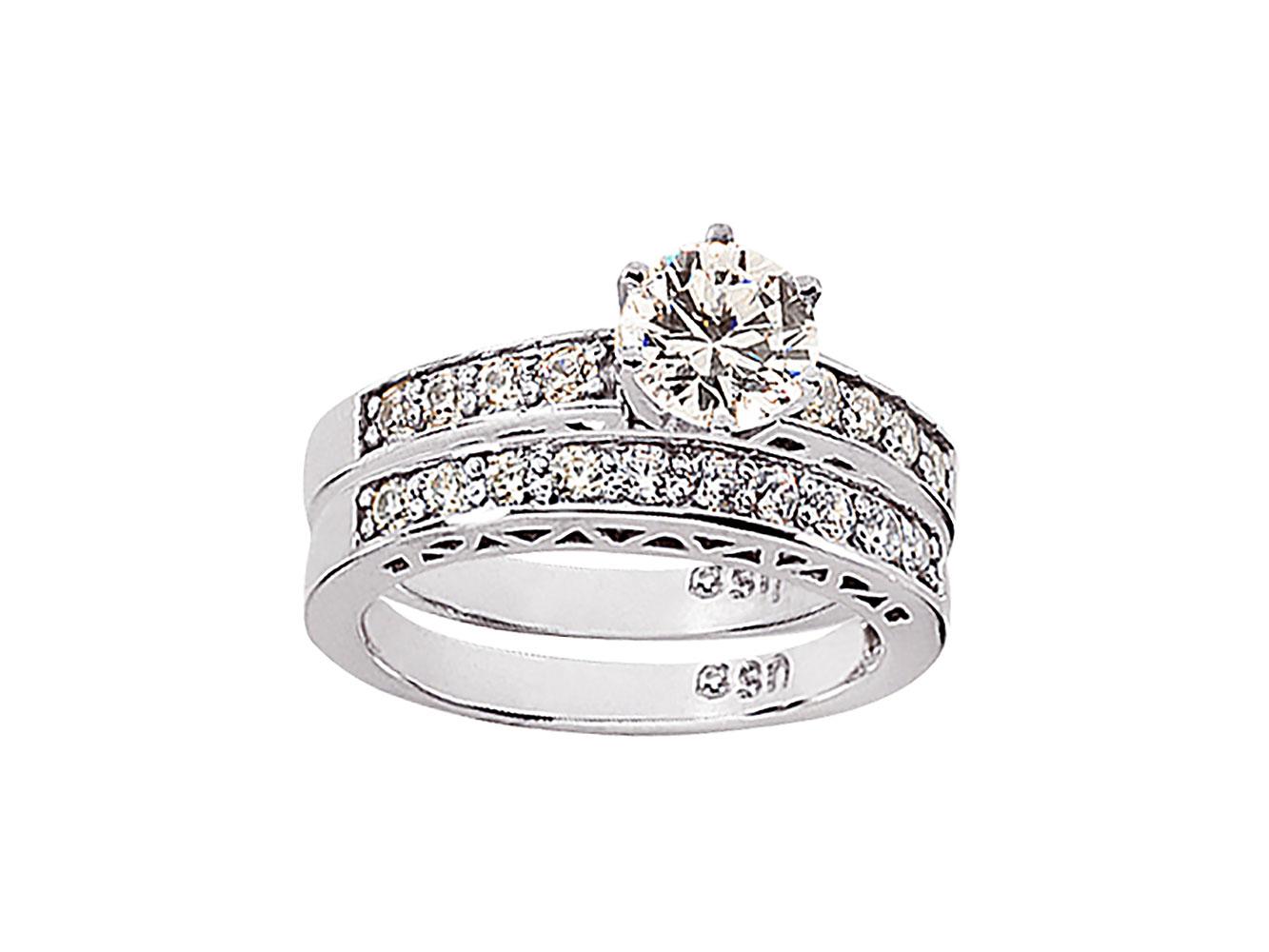 1-00Ct-Round-Cut-Diamond-Women-039-s-Bridal-Engagement-Ring-Set-Solid-14k-Gold