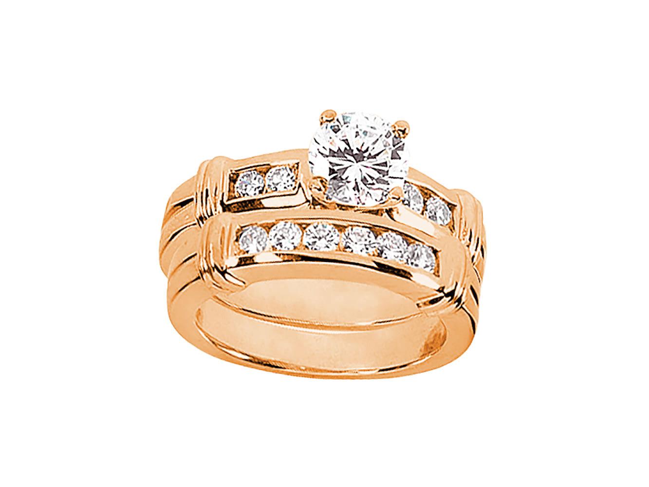 1 00ct cut engagement ring wedding band set
