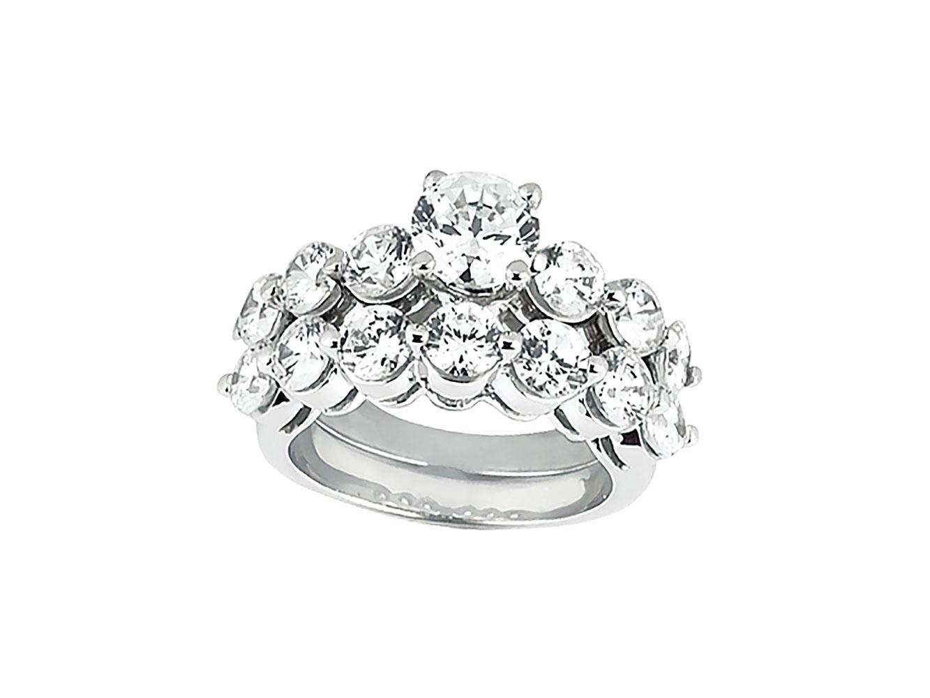6ef00262389e Original 2.25Ct Anillo de Compromiso Diamante Corte Princesa Set ...