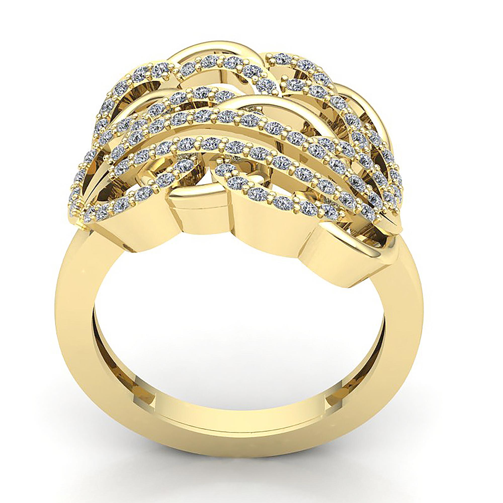 05ct Round Not Enhanced Diamond Womens Interlinked Wedding Band