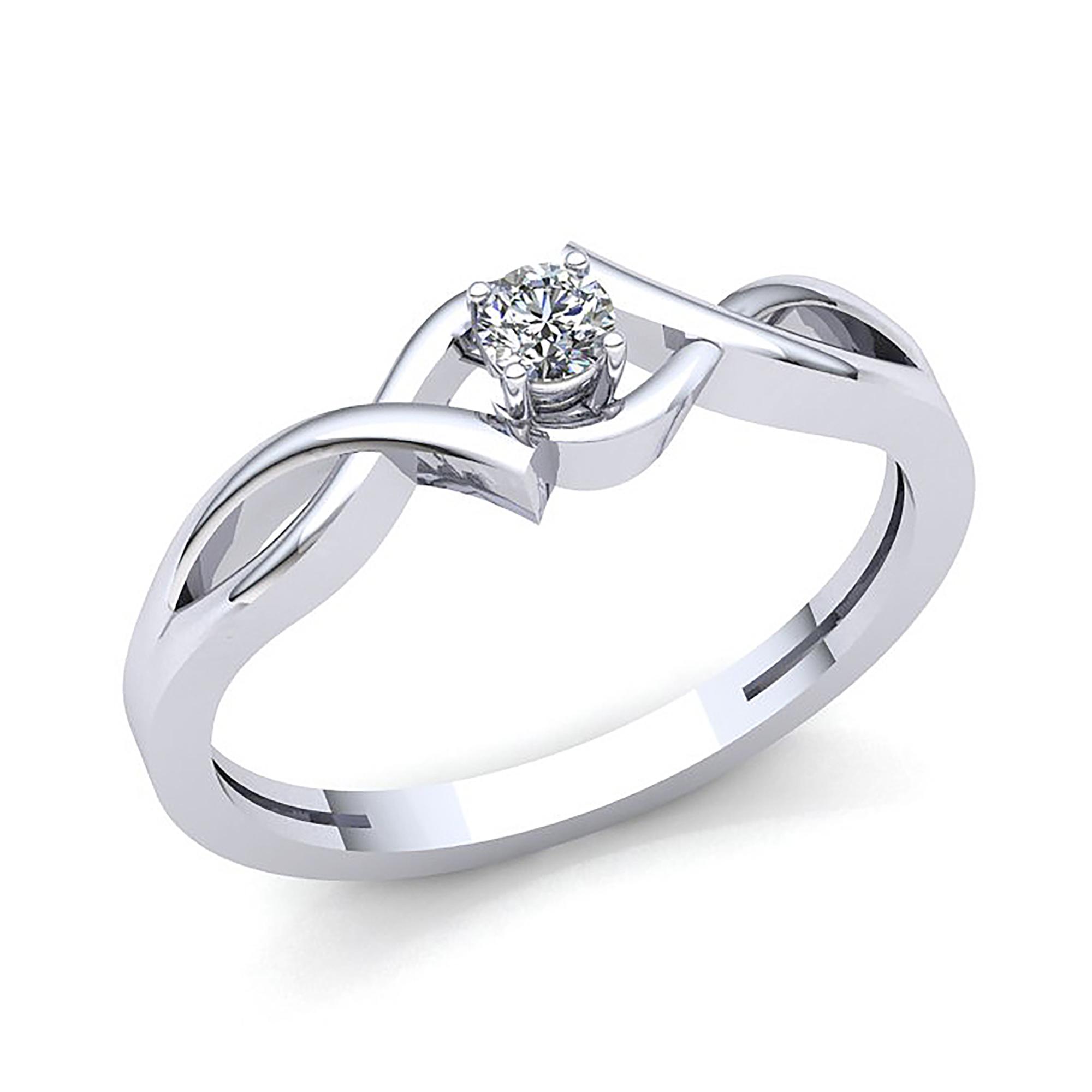 Details about Genuine 1 4ctw Round Diamond Women s Bridal Solitaire Engagement  Ring 18K Gold db1957f4da