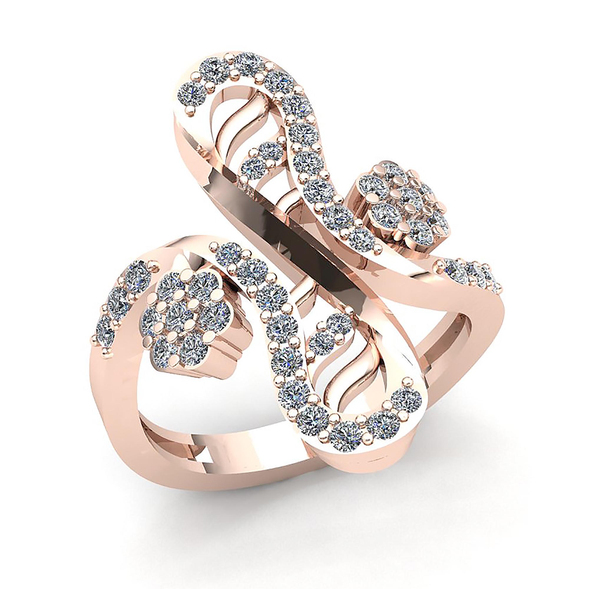 natural 3carat round cut diamond ladies wavy flower wedding band ring 18k gold ebay. Black Bedroom Furniture Sets. Home Design Ideas