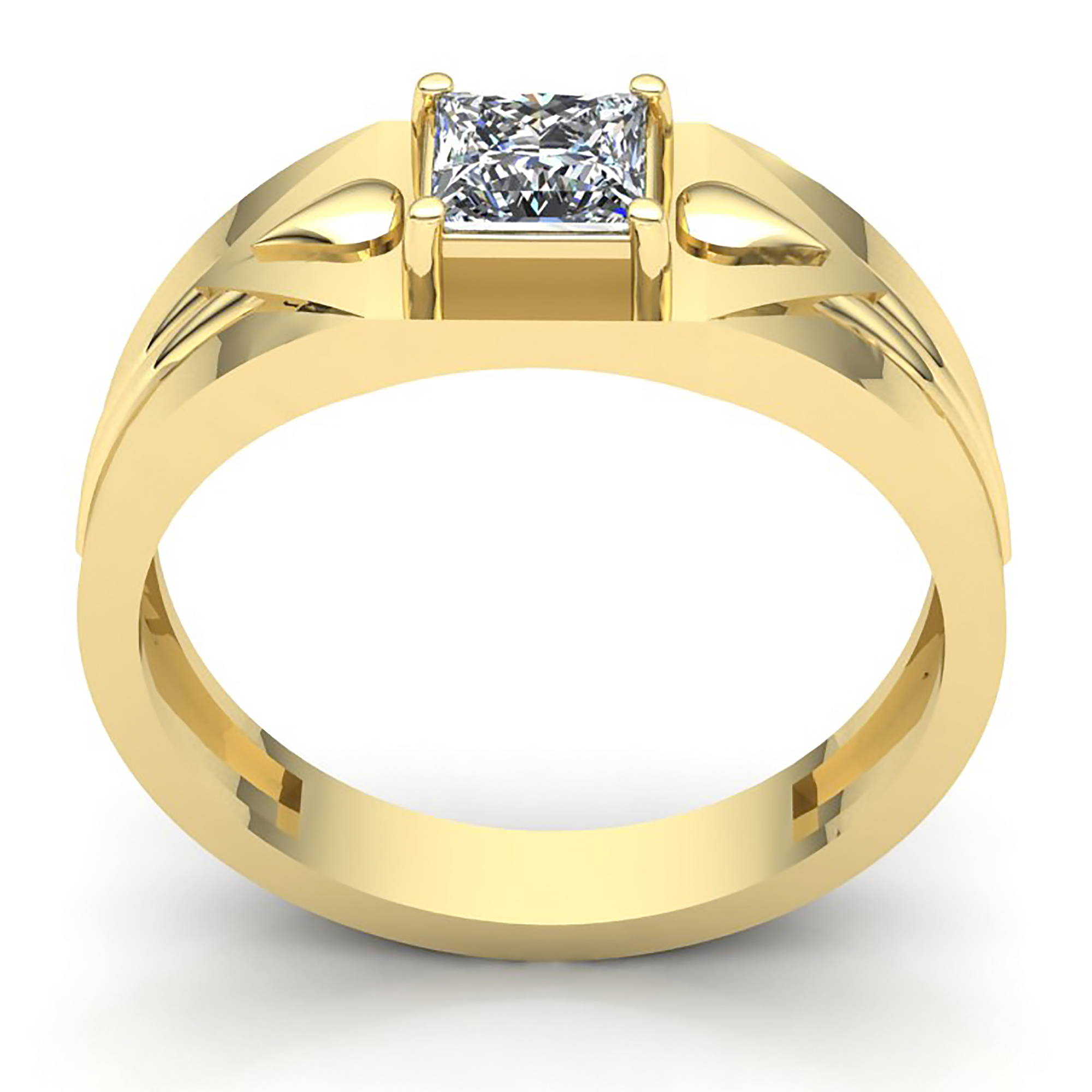 Real 0 5ct Princess Cut Diamond Men S Solitaire Wedding