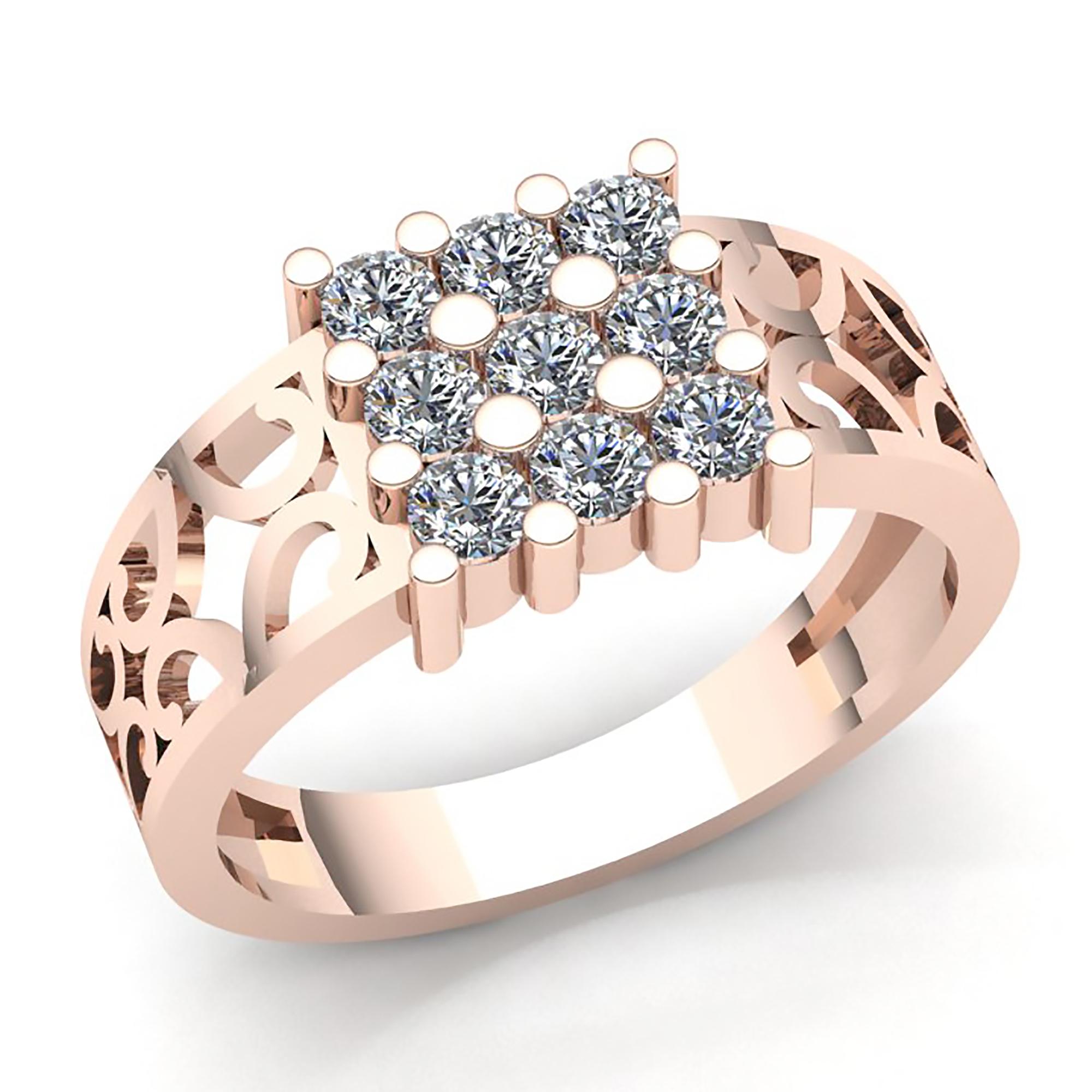 ce099d8777db 0.15 quilates Diamante de talla redonda para hombre Anillo de boda de lujo  14K Oro