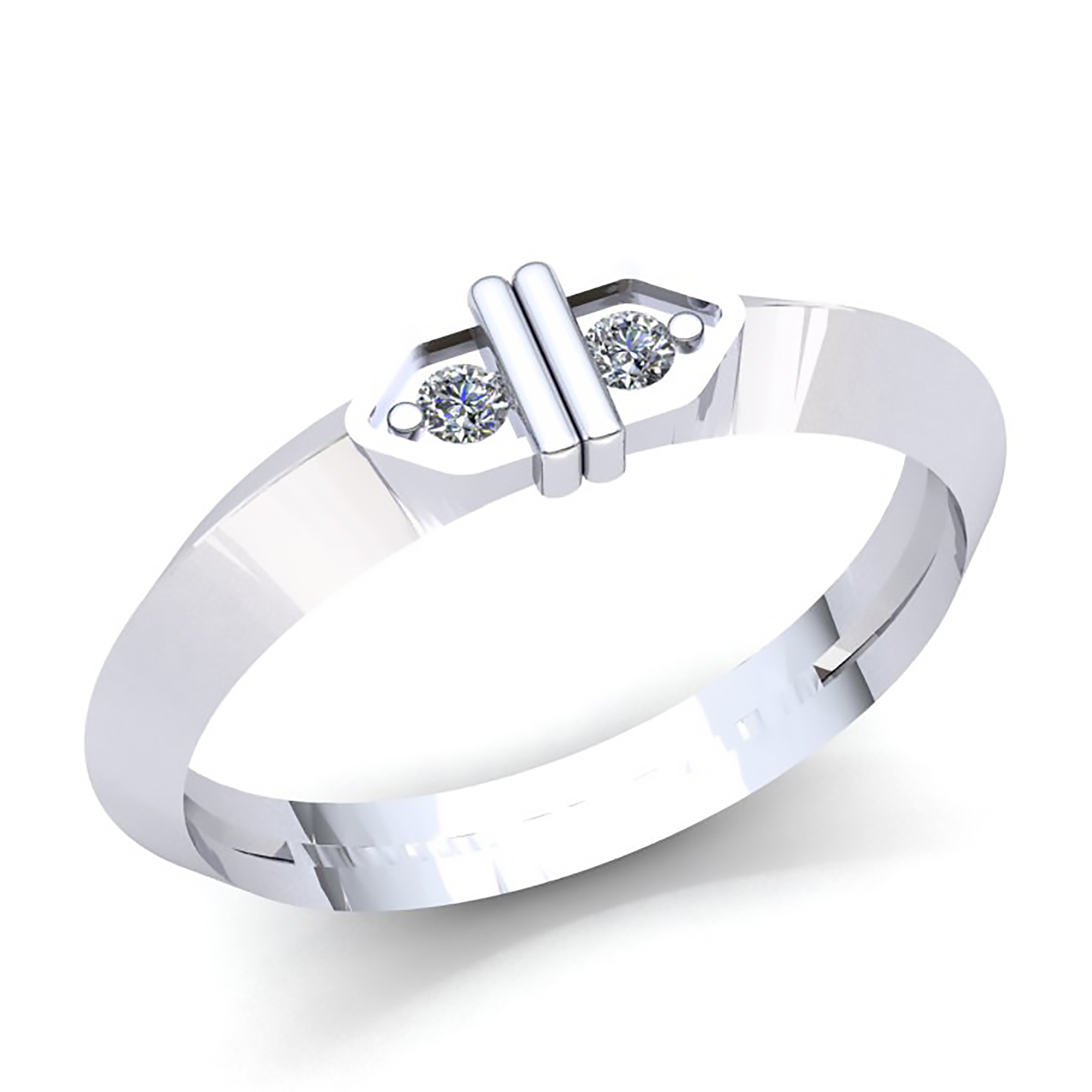 Details about 1/3ctw Round Cut Diamond Mens 2Stone Knife Edge Wedding Band  Ring 10K Gold