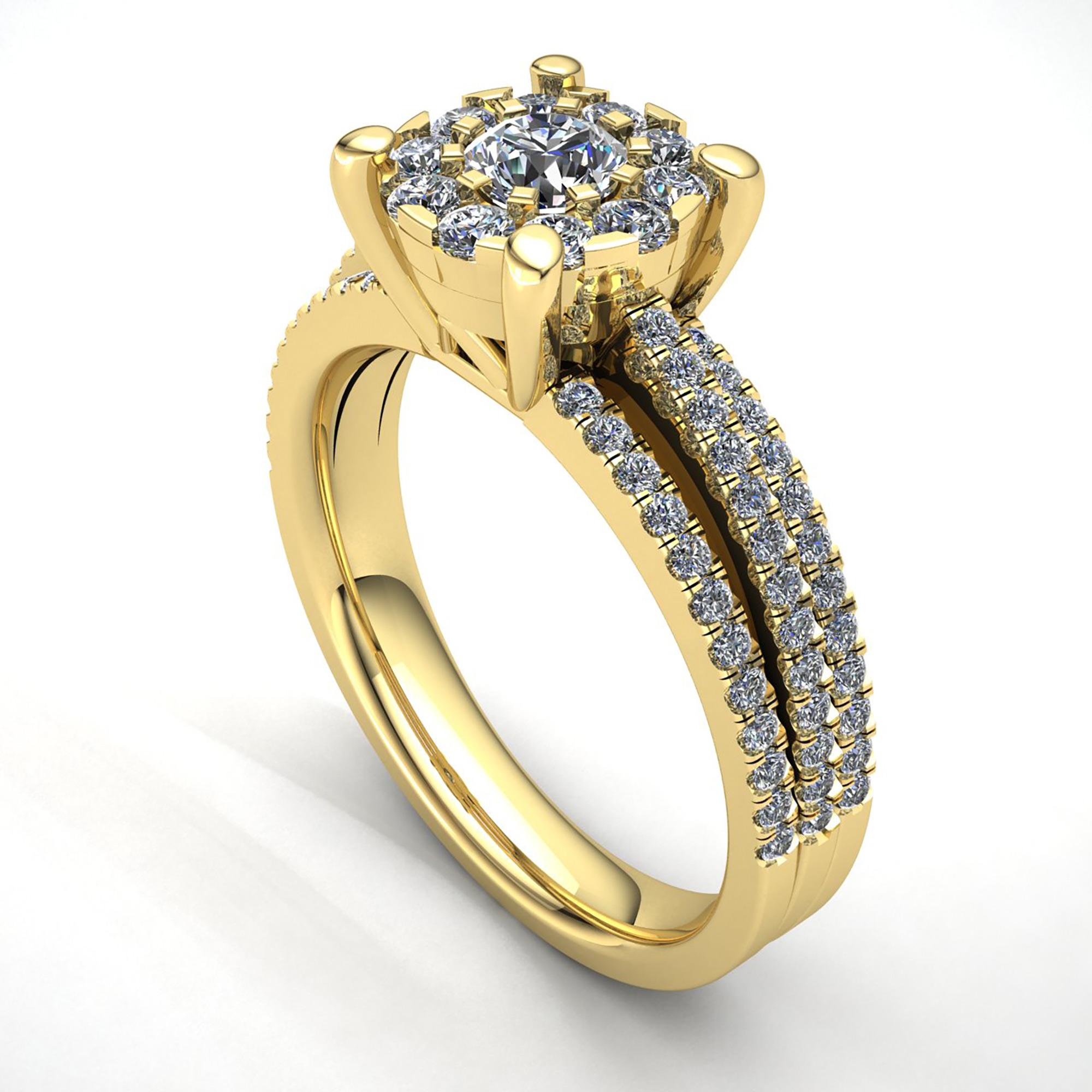 genuine 2ct round cut diamond women 39 s bridal cluster. Black Bedroom Furniture Sets. Home Design Ideas