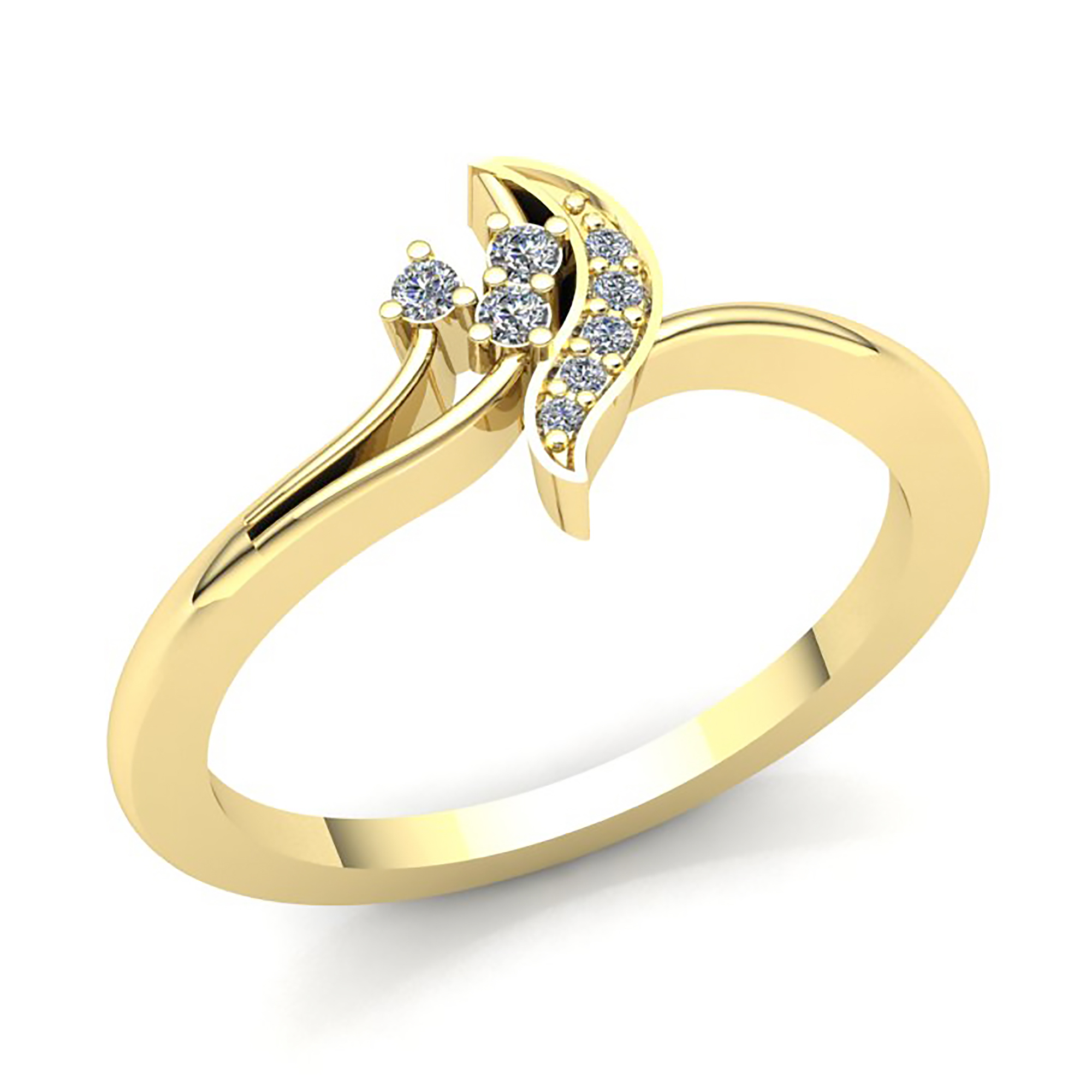 83b933ed99a Details about 1carat Round Cut Diamond Ladies 3Stone Fancy Right Hand Ring  Leaf 18K Gold