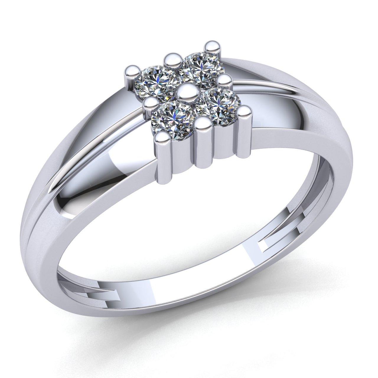 7dec9a8cf75e3 Details about Genuine 1.5ct Round Cut Diamond Mens Classic 4 Stone  Engagement Ring 18K Gold