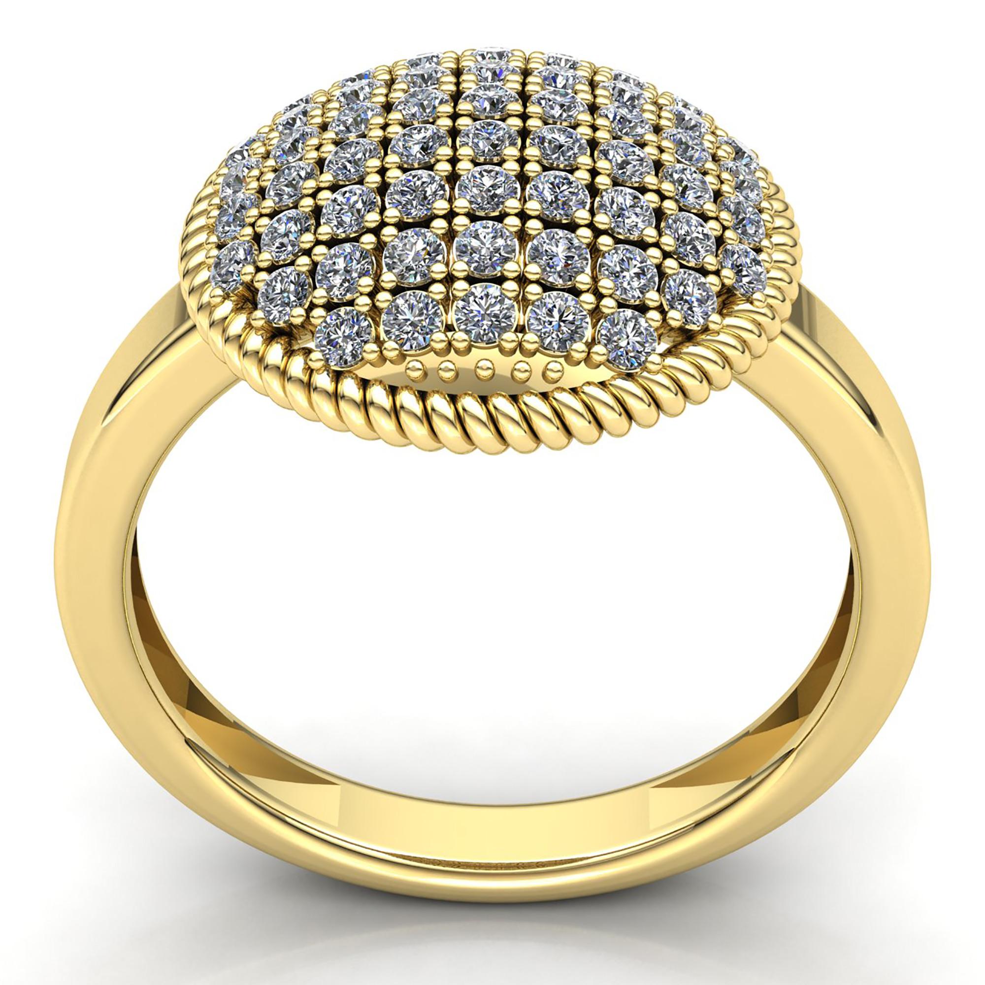 5carat genuine round cut diamond ladies dome cluster engagement ring 14k gold ebay. Black Bedroom Furniture Sets. Home Design Ideas