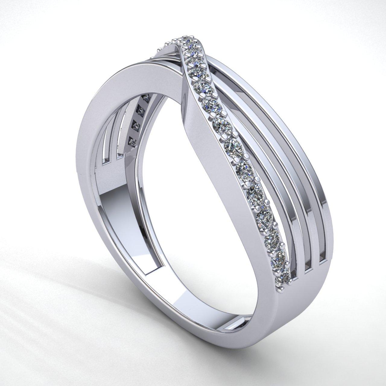 0-75-Ct-Diamante-Talla-Redonda-Mujer-Cruzado-Aniversario-Alianza-18Ct-Oro miniatura 10