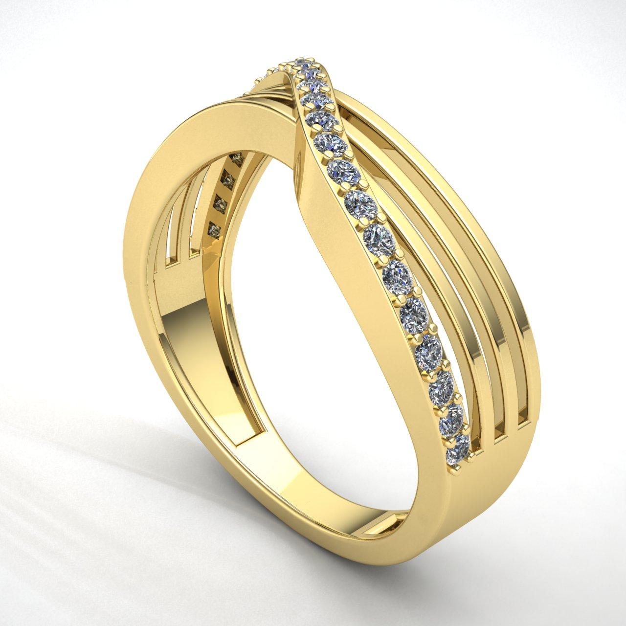 0-75-Ct-Diamante-Talla-Redonda-Mujer-Cruzado-Aniversario-Alianza-18Ct-Oro miniatura 13