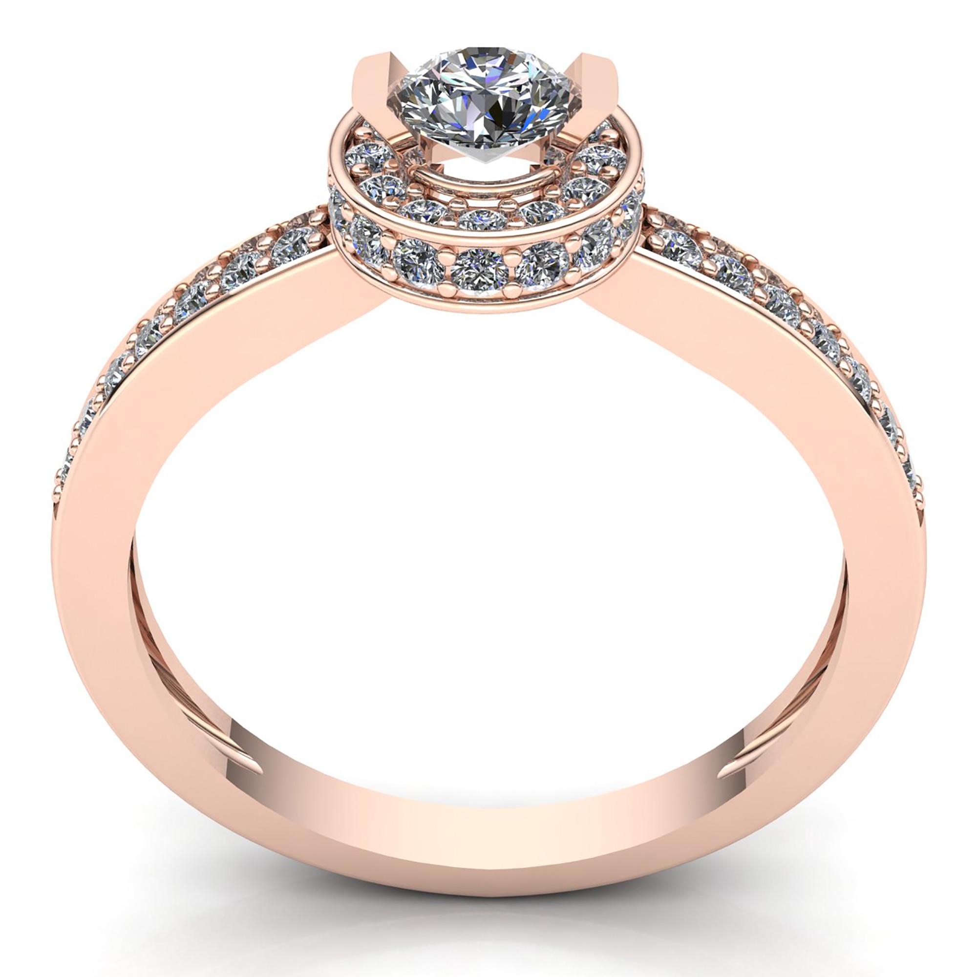 round cut diamond ladies bridal halo solitaire. Black Bedroom Furniture Sets. Home Design Ideas