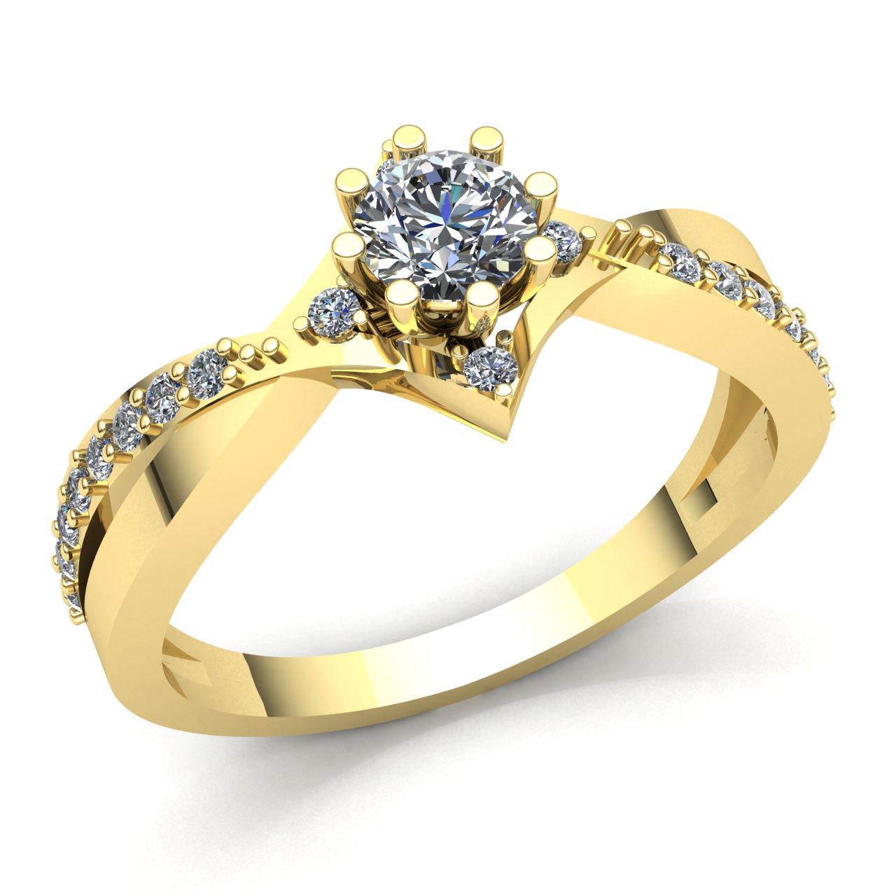 0.33ct Round Cut Diamond Ladies Solitaire Anniversary Engagement Ring 14K gold