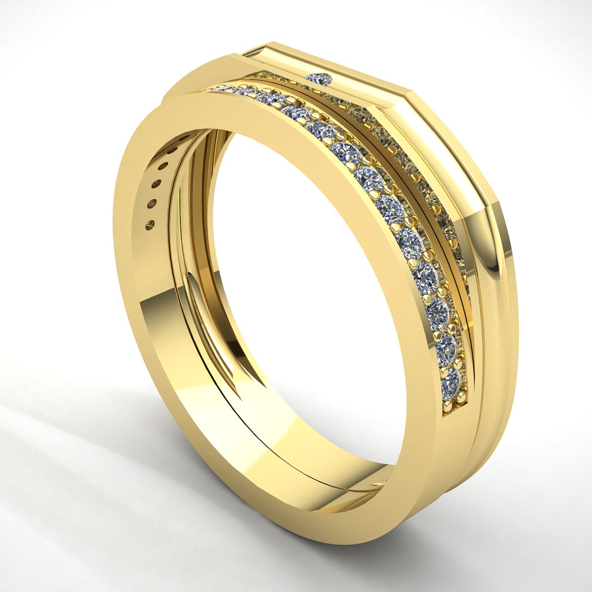 Genuine 2ct Round Cut Diamond Mens Together Promise ...