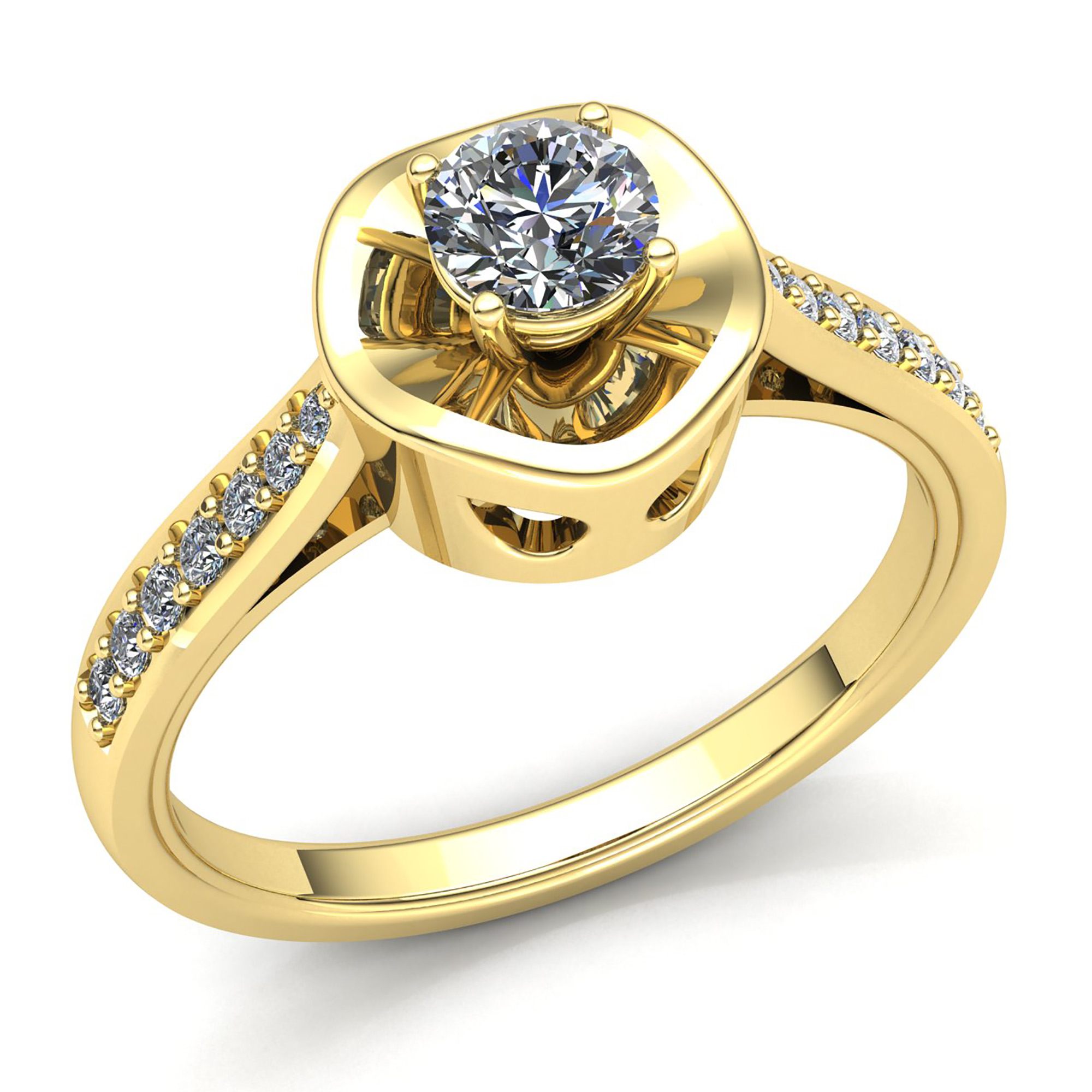 genuine 2ct round cut diamond ladies vintage solitaire engagement ring 10k gold ebay. Black Bedroom Furniture Sets. Home Design Ideas