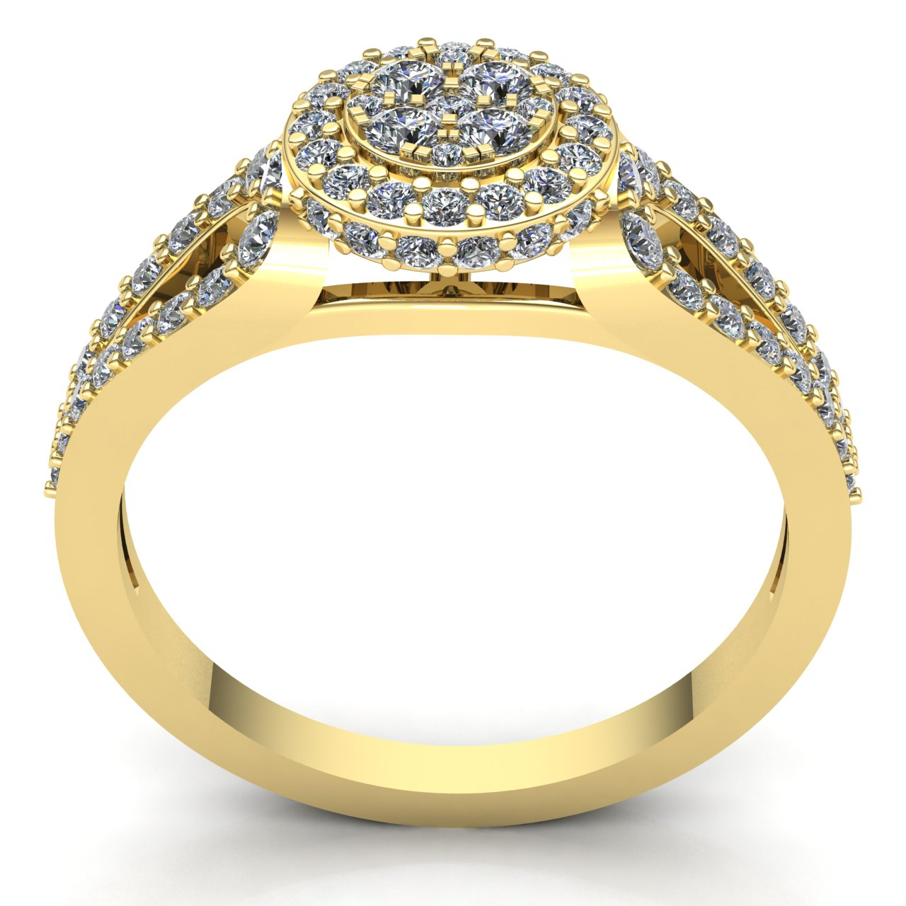 3ct-Round-Cut-Diamond-Ladies-Bridal-Cluster-Halo-Engagement-Ring-14K-Gold