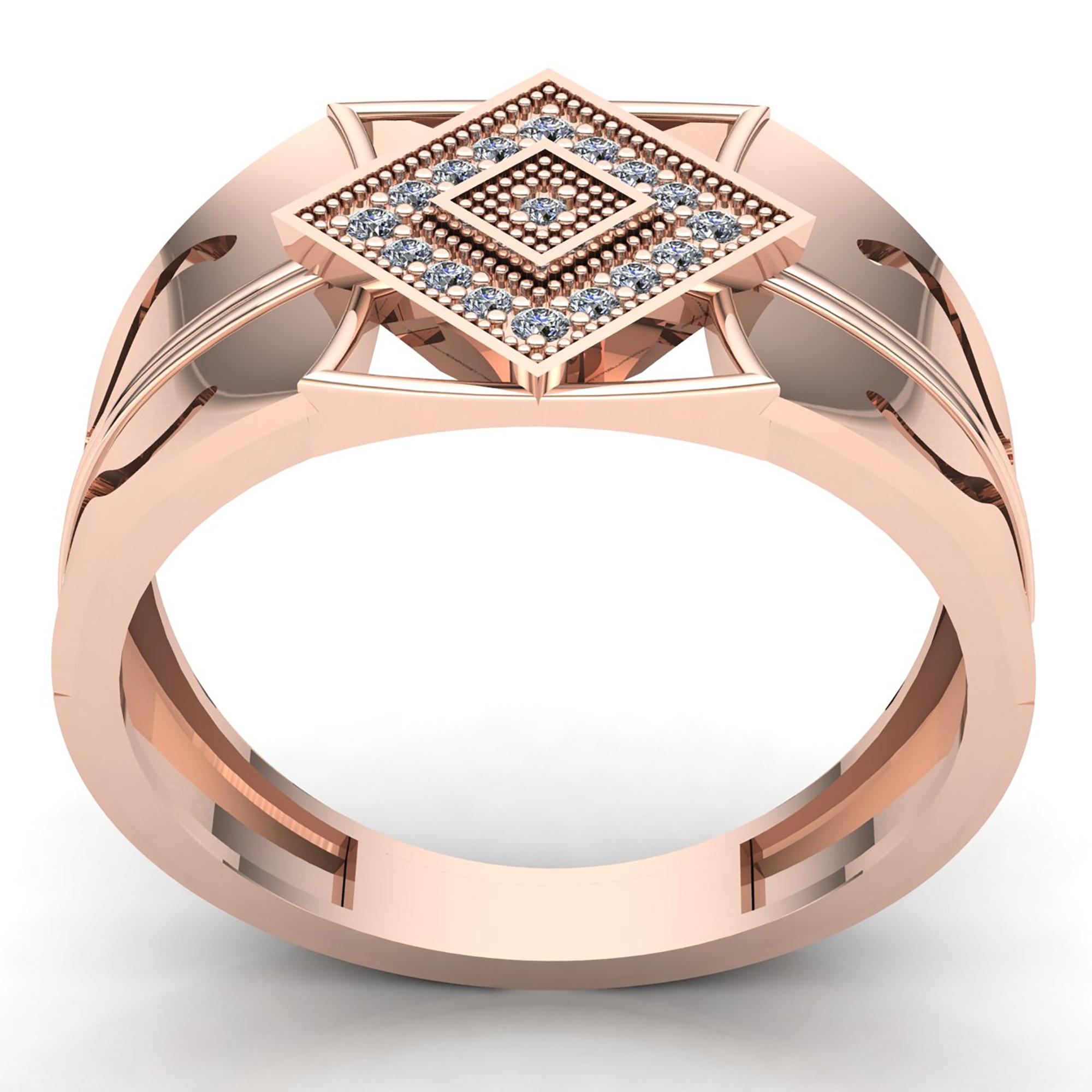 0.33carat Round Cut Diamond Mens For Him Modern Engagement ...