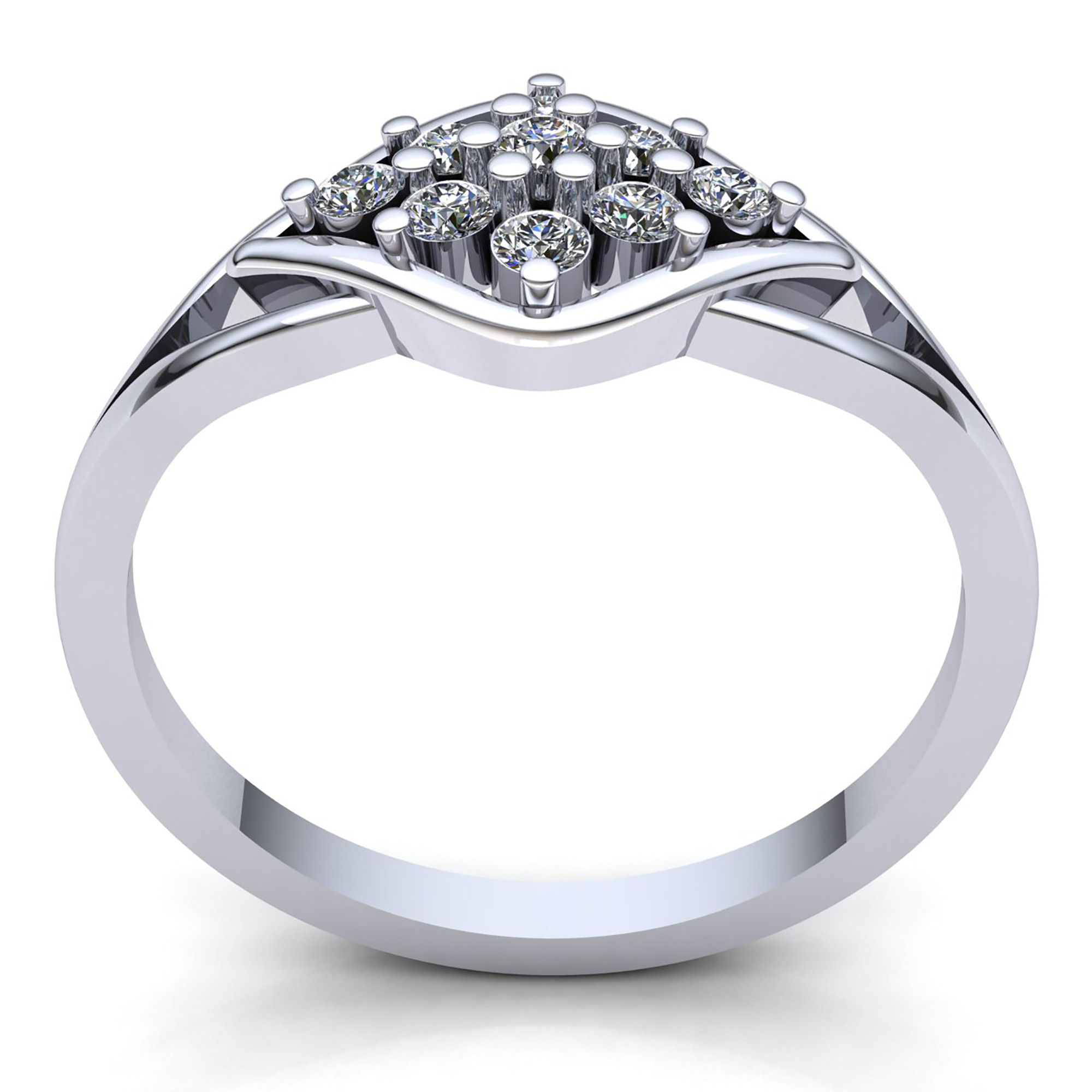 Halo Anniversary Bands: 1carat Round Cut Diamond Ladies Cluster Halo Promise
