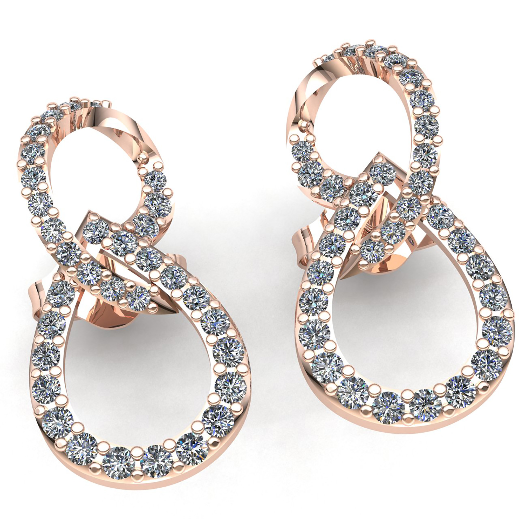 cubic product victoria silver infinity zirconia with setted earrings by