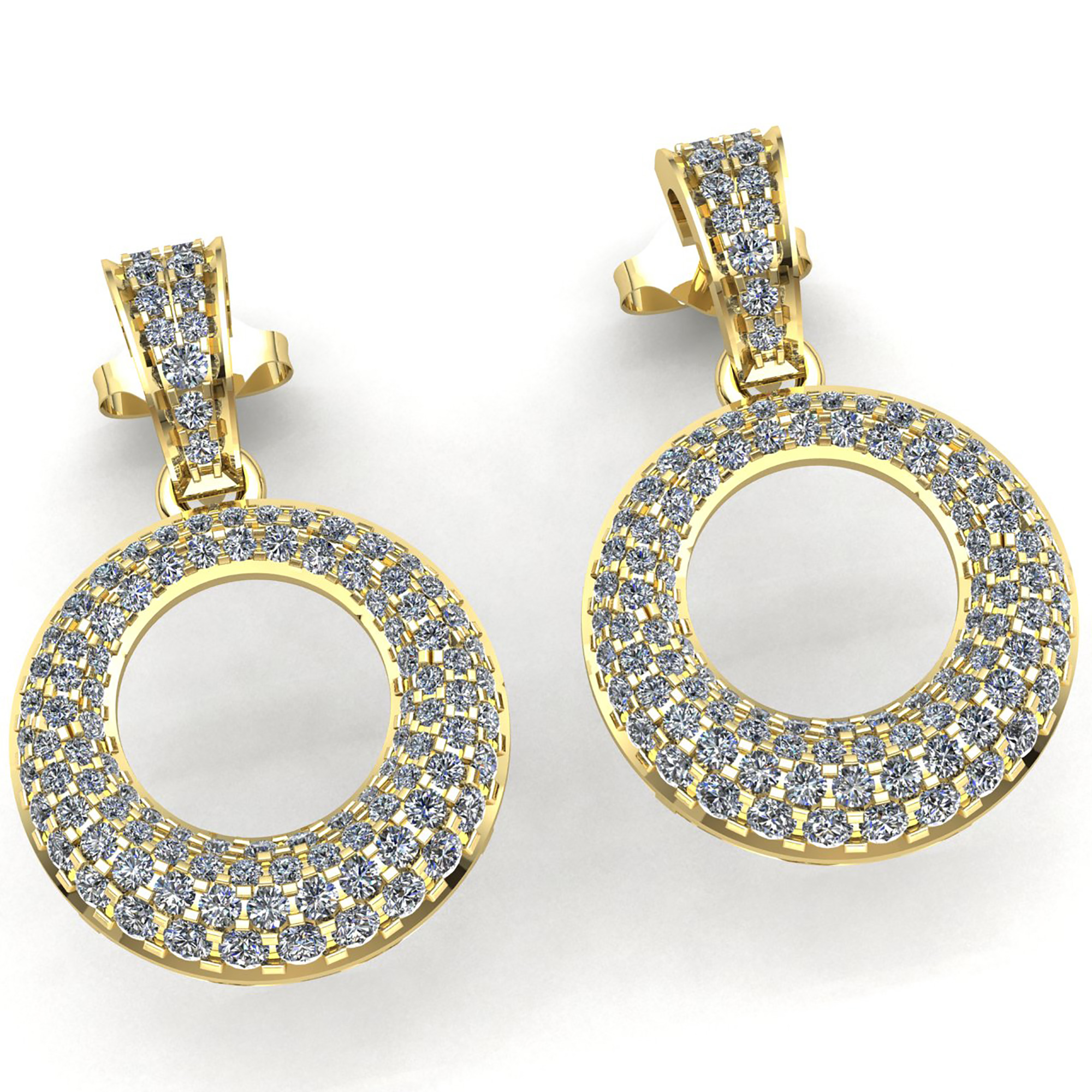 slane lyst bee gallery metallic jewelry silver product in diamond pave earrings real