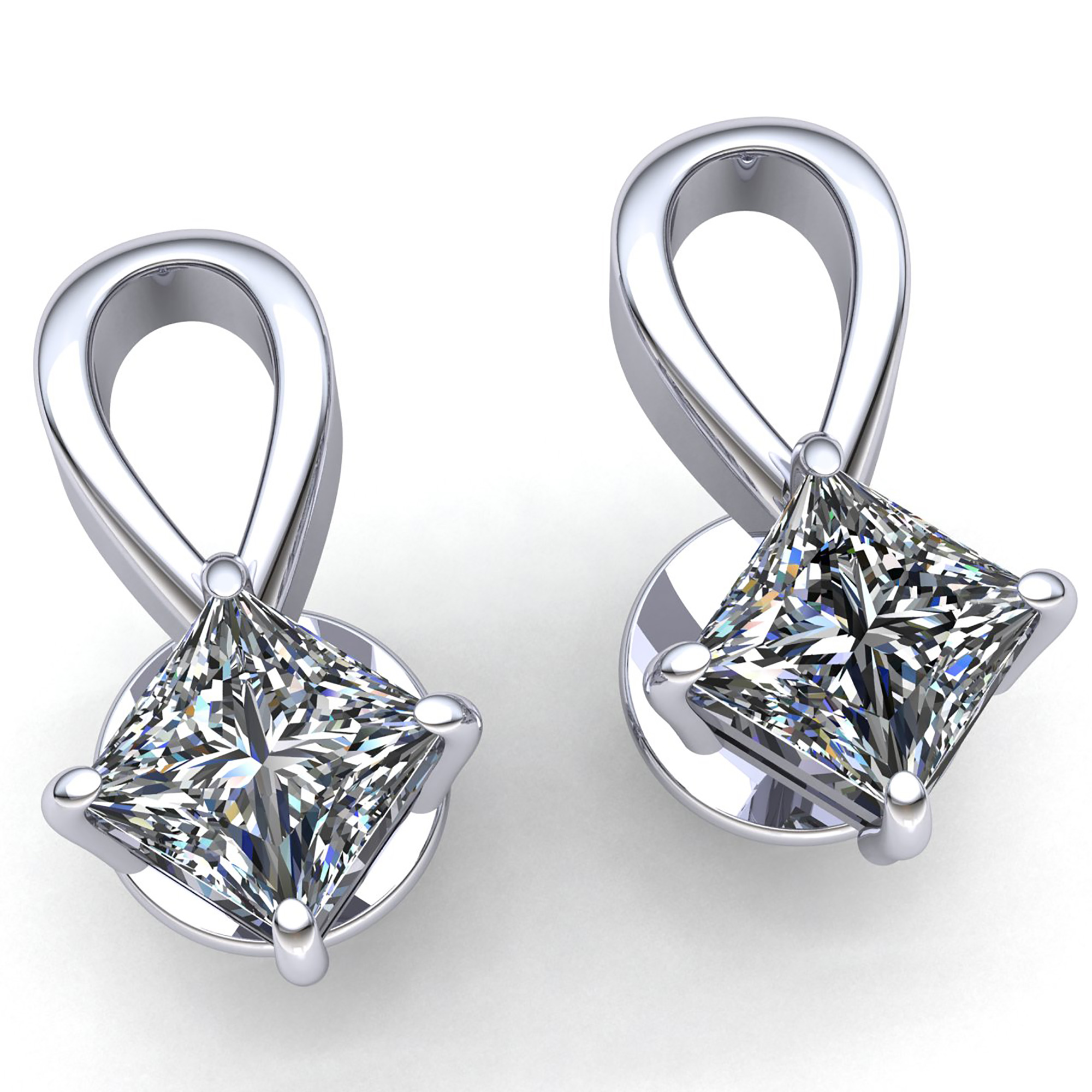 solitaire ear white round solid yellow cut ct earrings diamond gold studs or