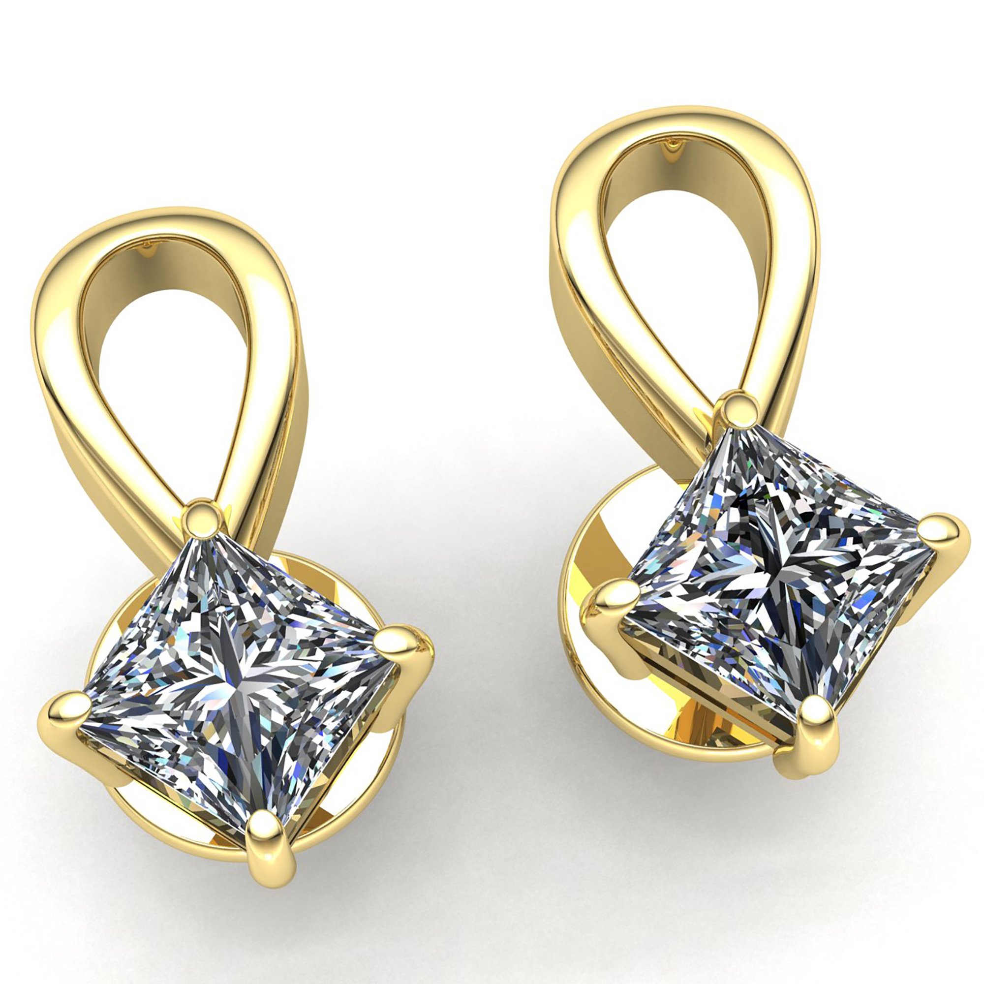 cushion cut earrings solitaire papell earring adrianna
