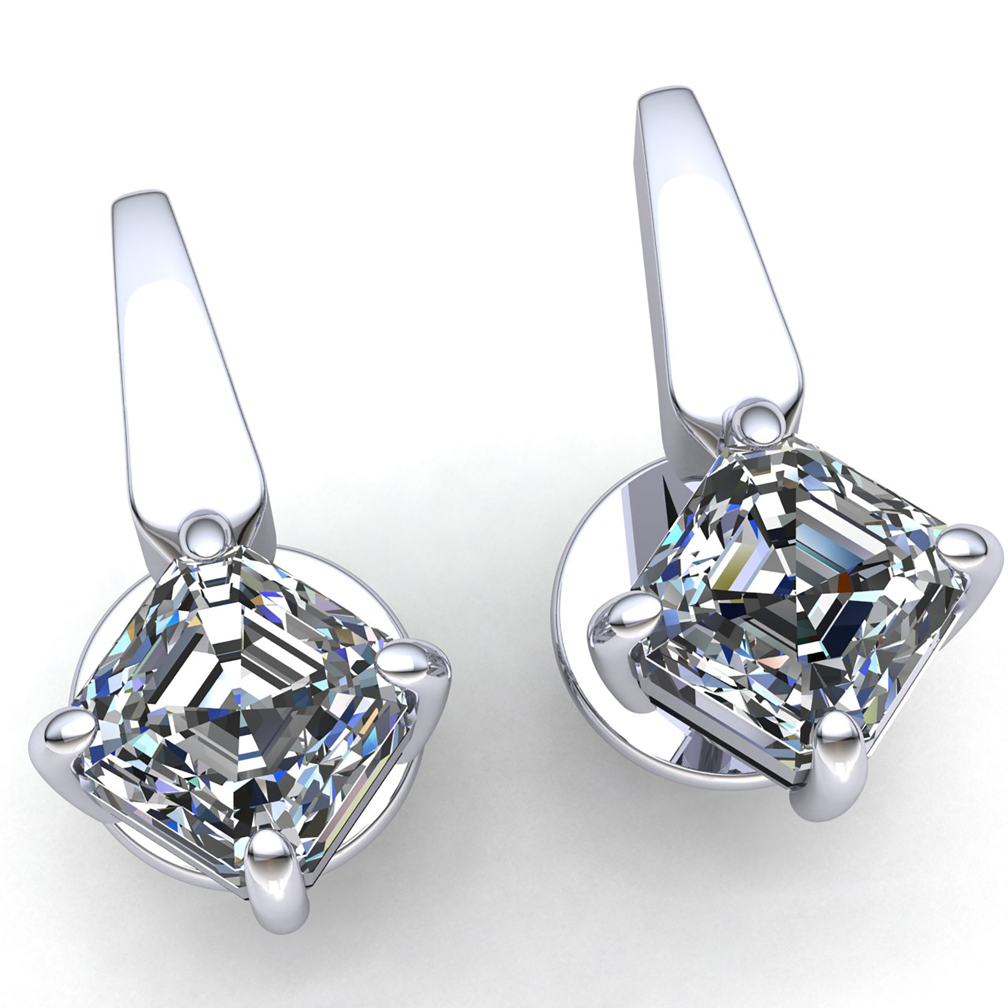 blue birks solitaire pin princess jewellry earrings cut diamond