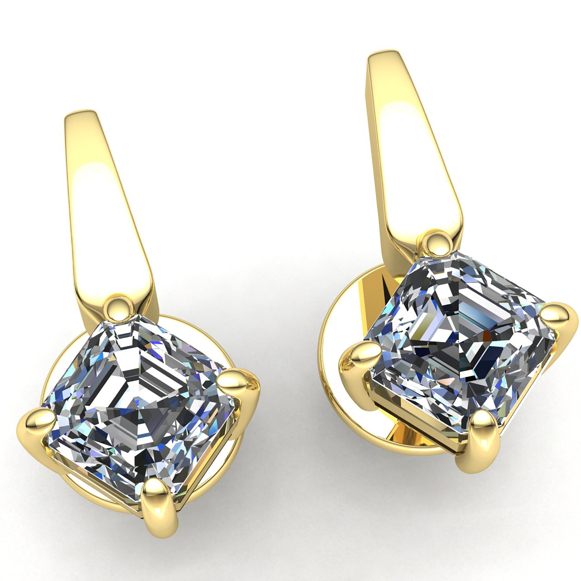 claw set gold studs in jewellery white earrings diamond brilliant solitaire round platinum