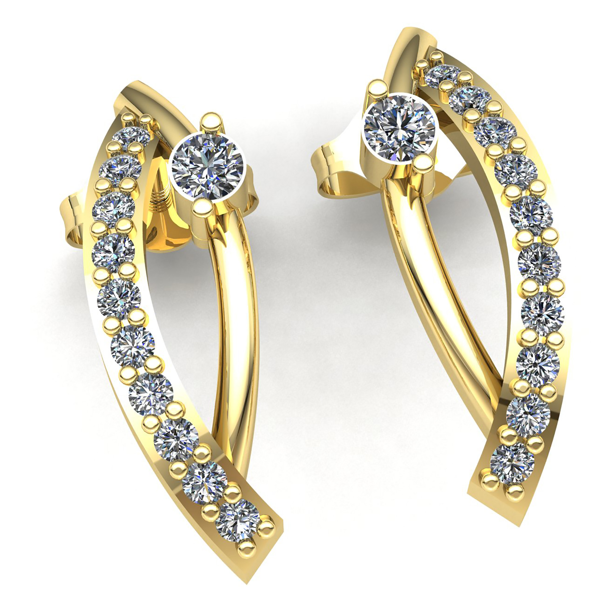 florentine little products gold diamond earrings cut hoop switzerland